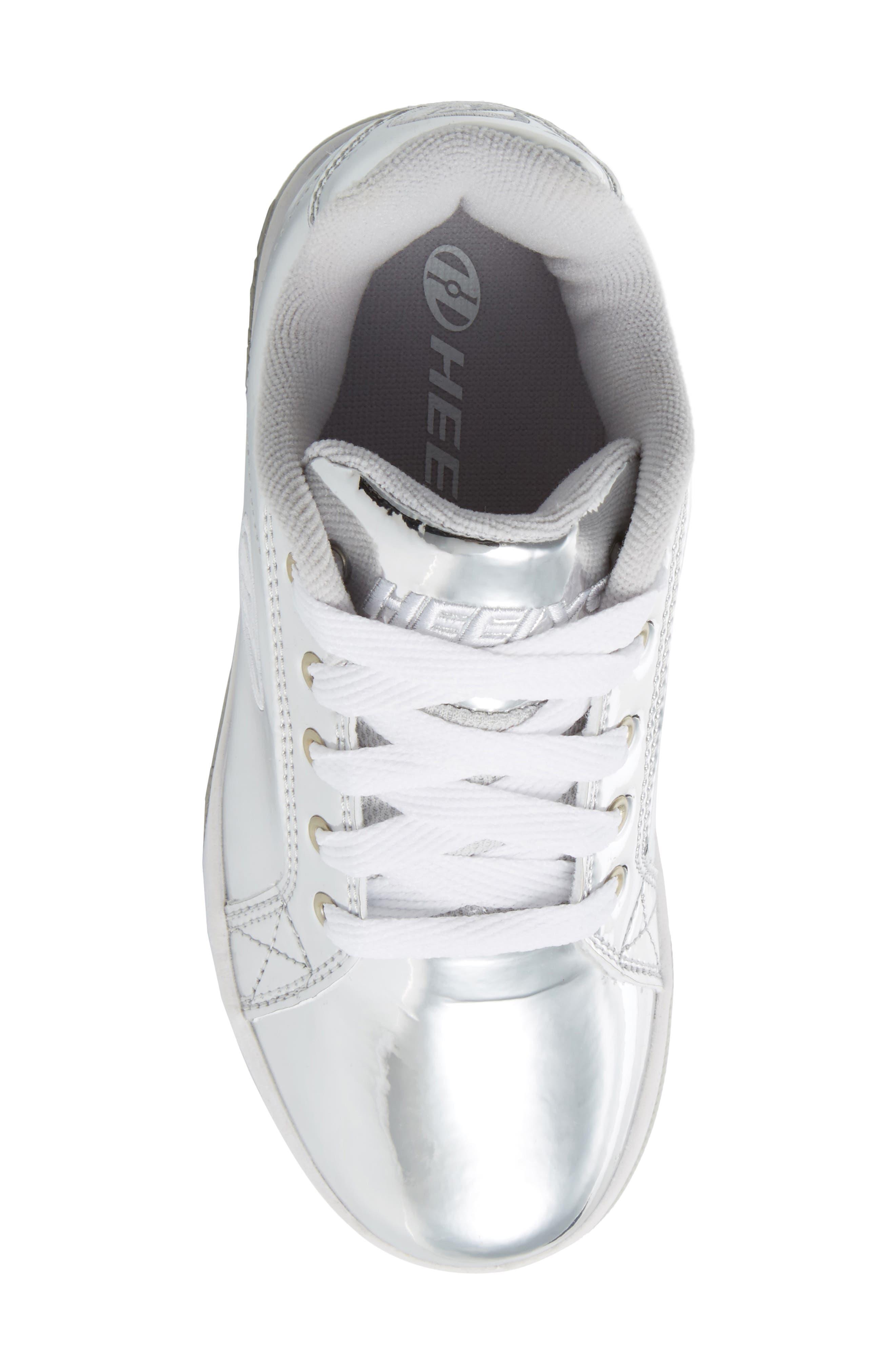 Split Skate Sneaker,                             Alternate thumbnail 5, color,                             Silver