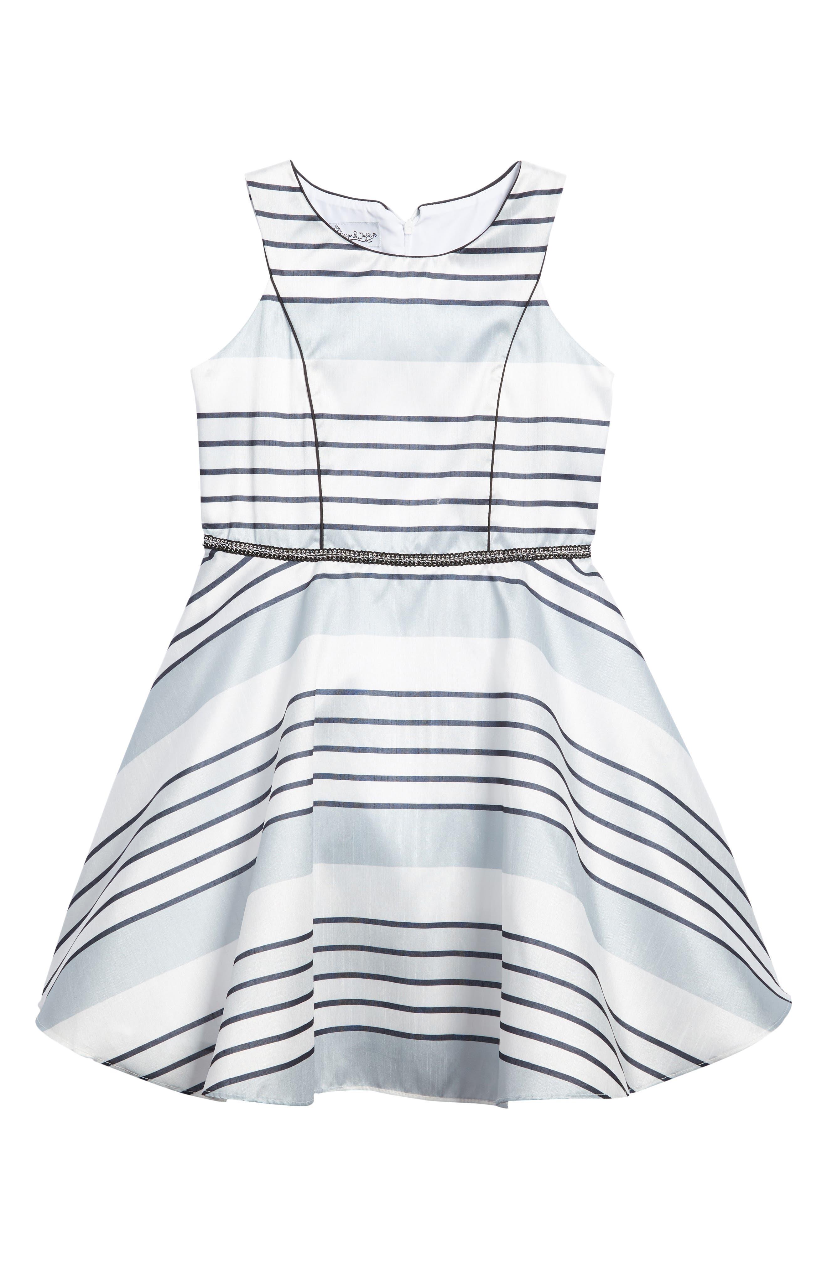 Stripe Dress,                             Main thumbnail 1, color,                             Silver Multi