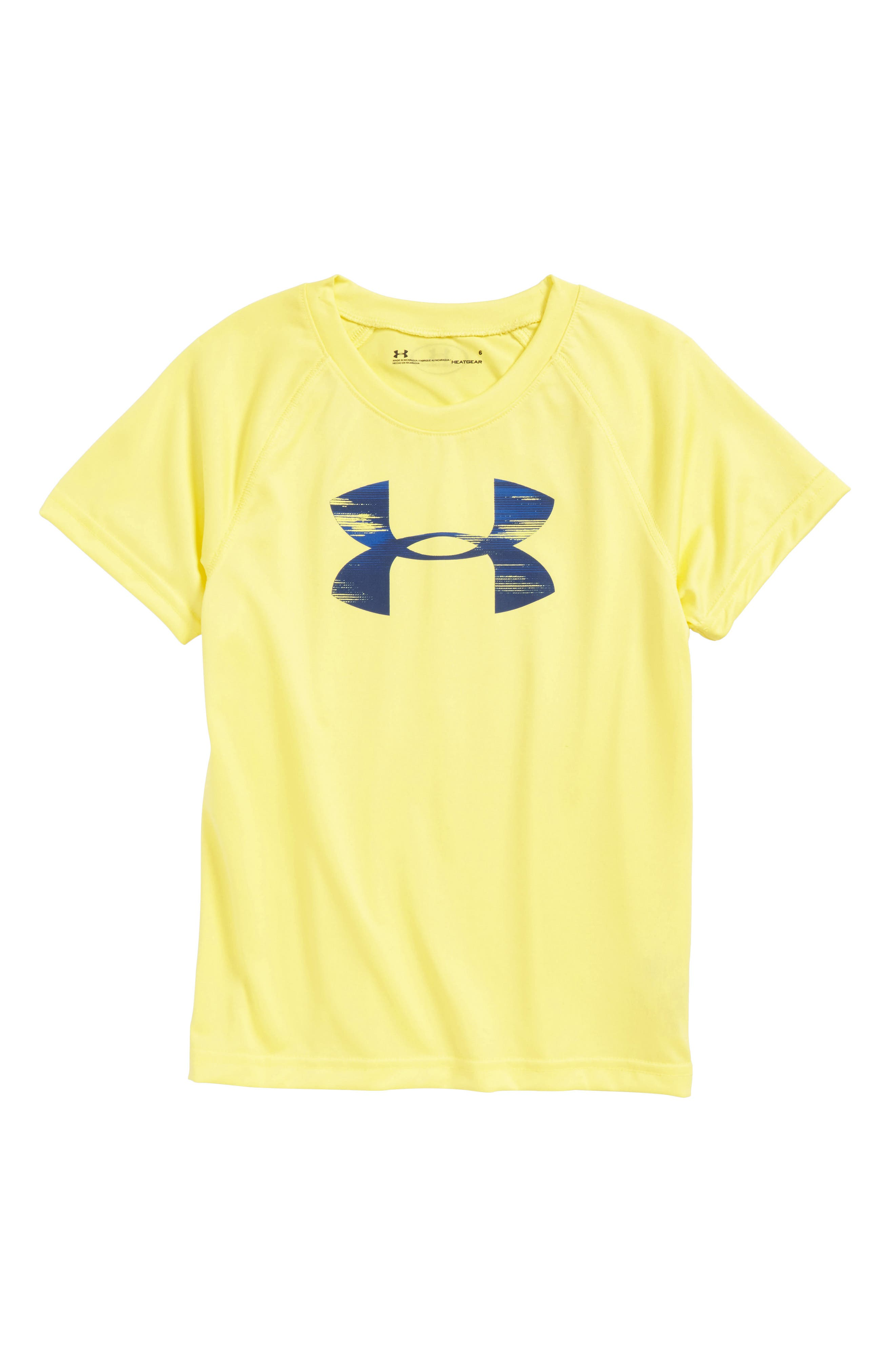 Accelerate Big Logo HeatGear<sup>®</sup> T-Shirt,                         Main,                         color, Sulfur