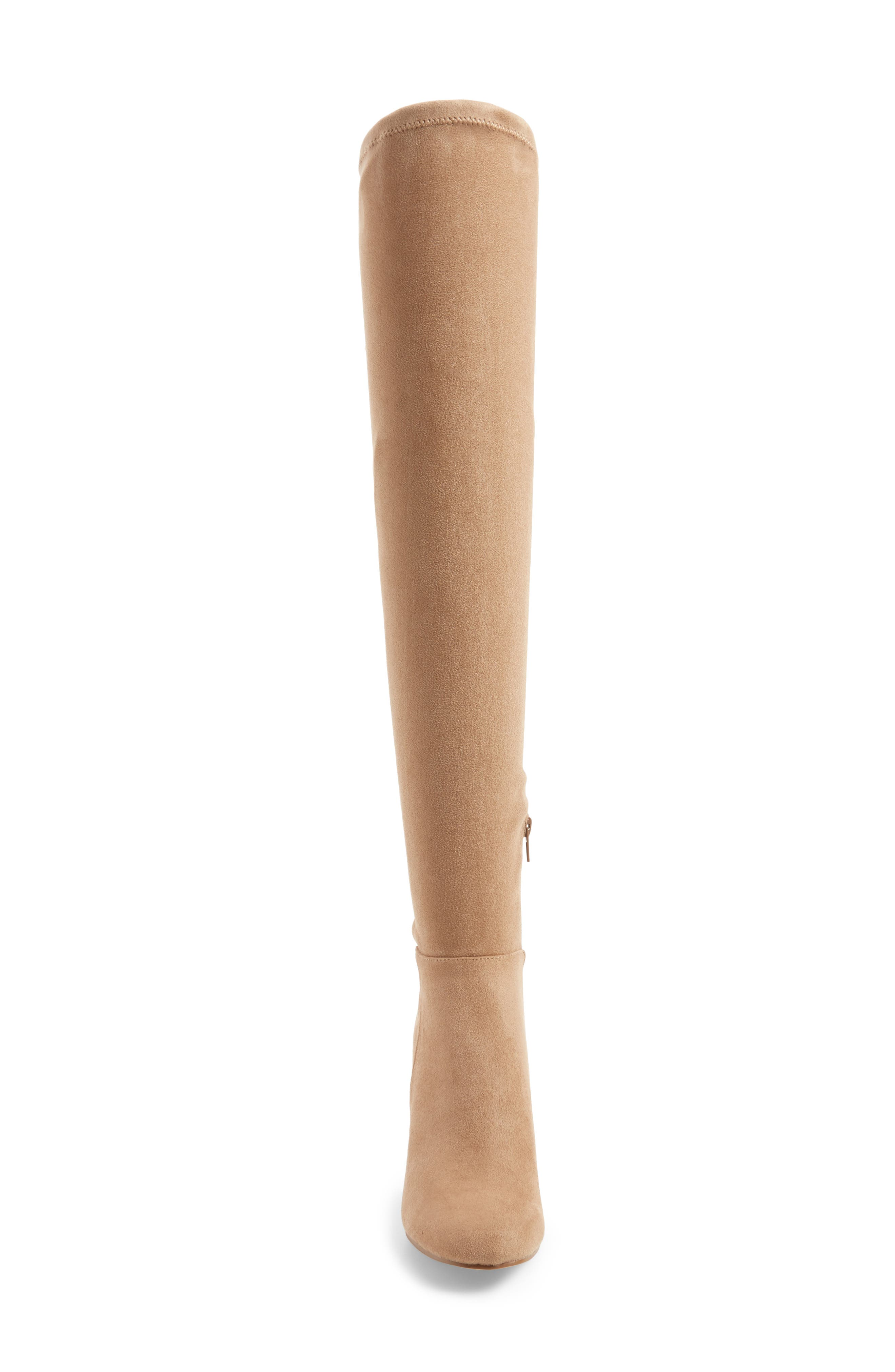 Krush Over the Knee Boot,                             Alternate thumbnail 4, color,                             Mink Suede