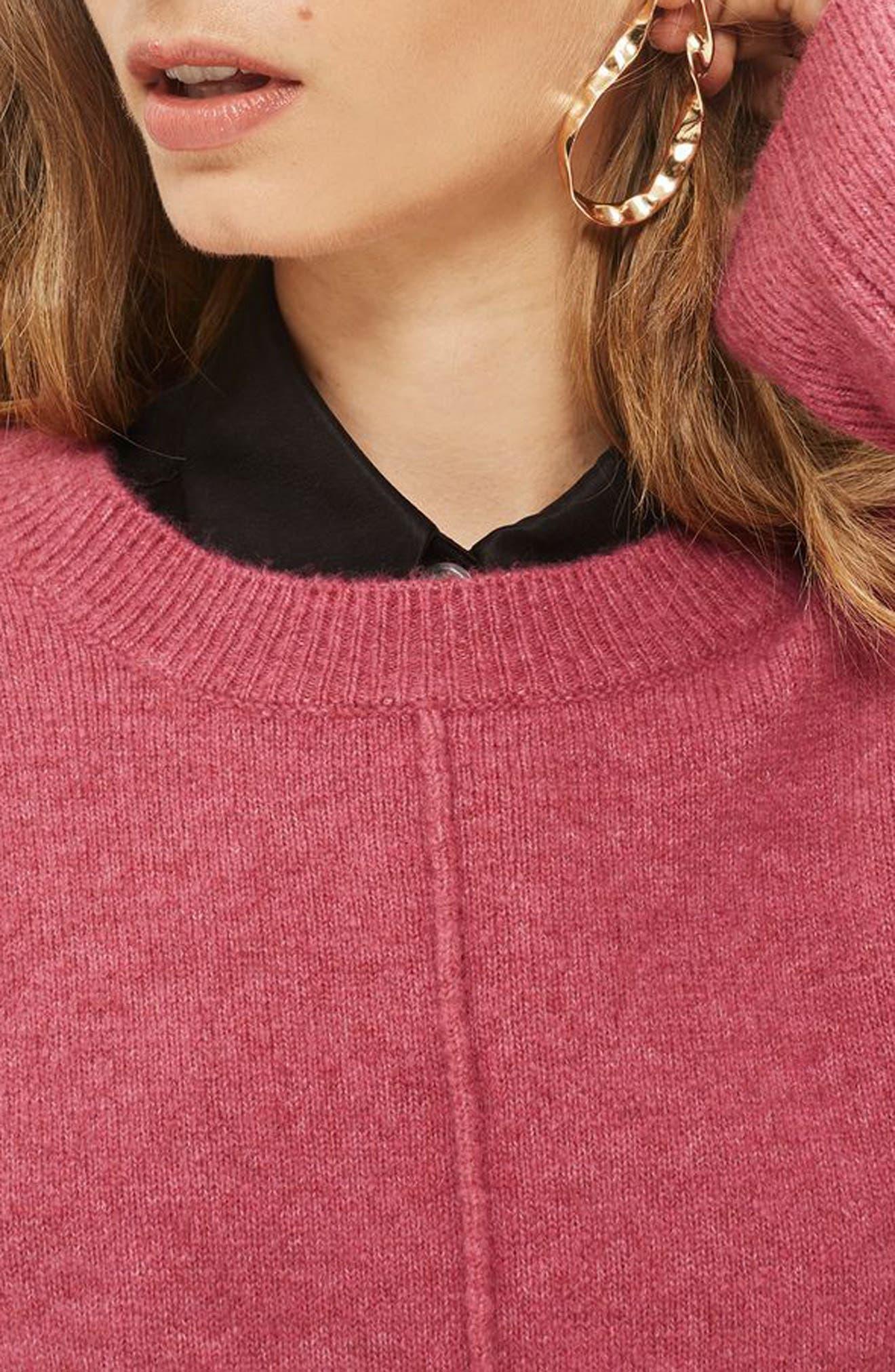 Alternate Image 4  - Topshop Pointelle Detail Sweater (Regular & Petite)