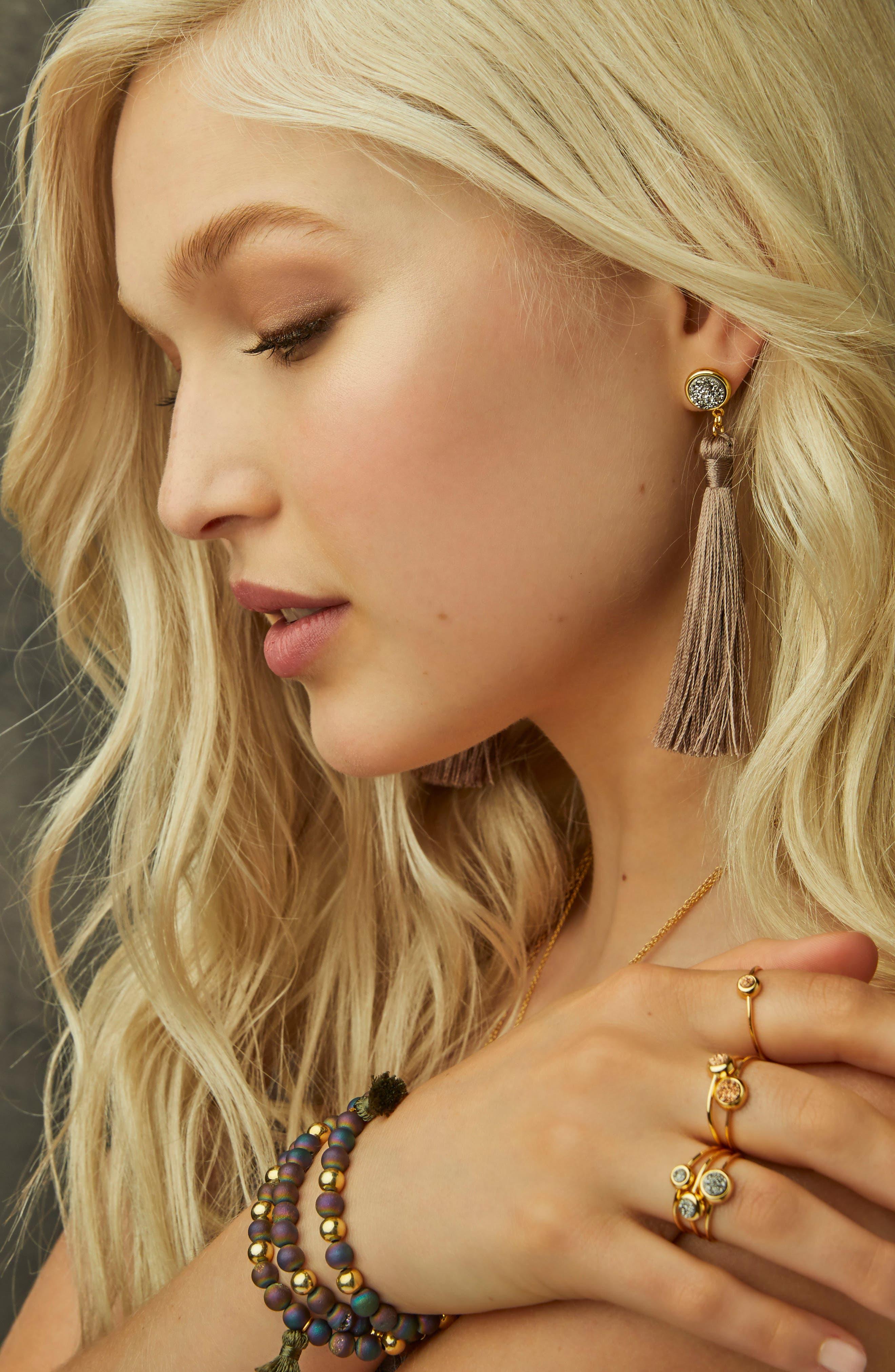 Alternate Image 2  - gorjana Hannah Drusy Tassel Wrap Bracelet