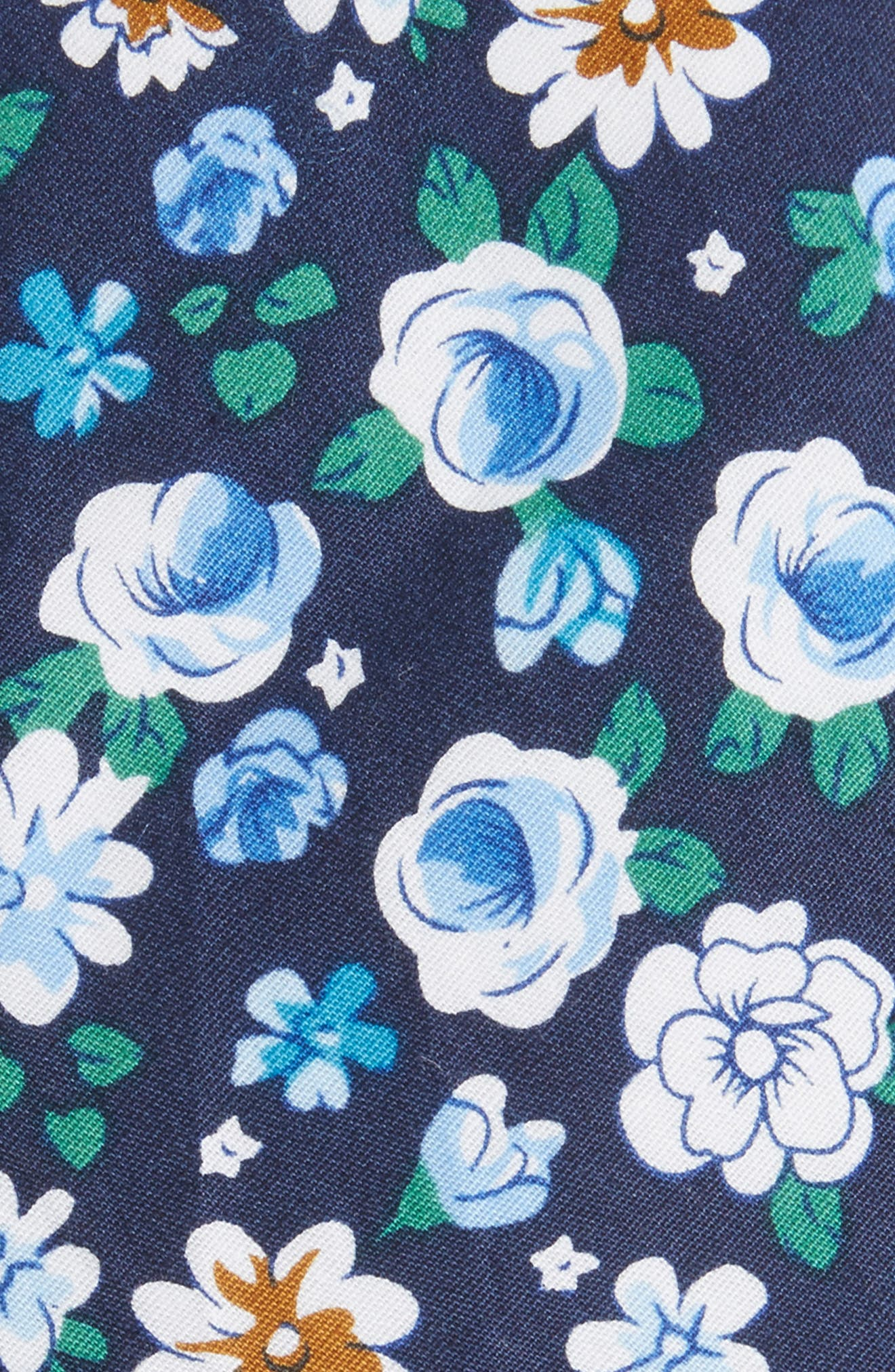 Frenso Floral Cotton Skinny Tie,                             Alternate thumbnail 2, color,                             Blue