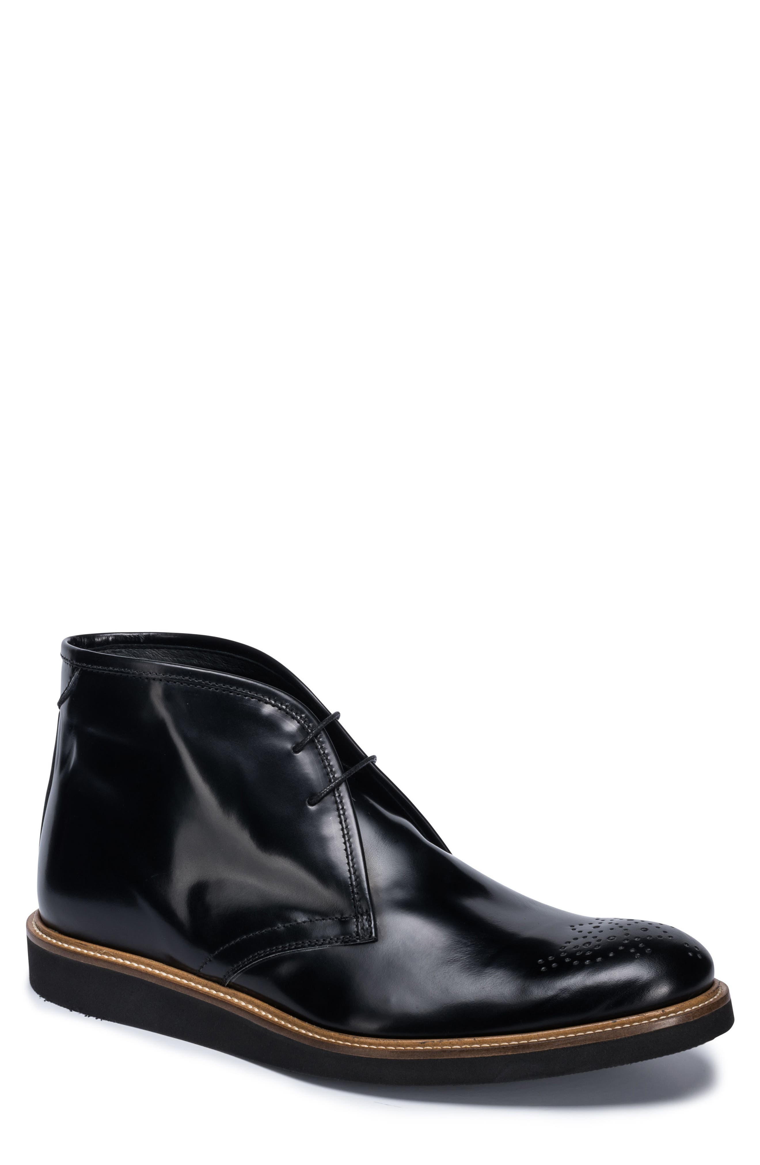 Verona Brogued Chukka Boot,                         Main,                         color, Nero