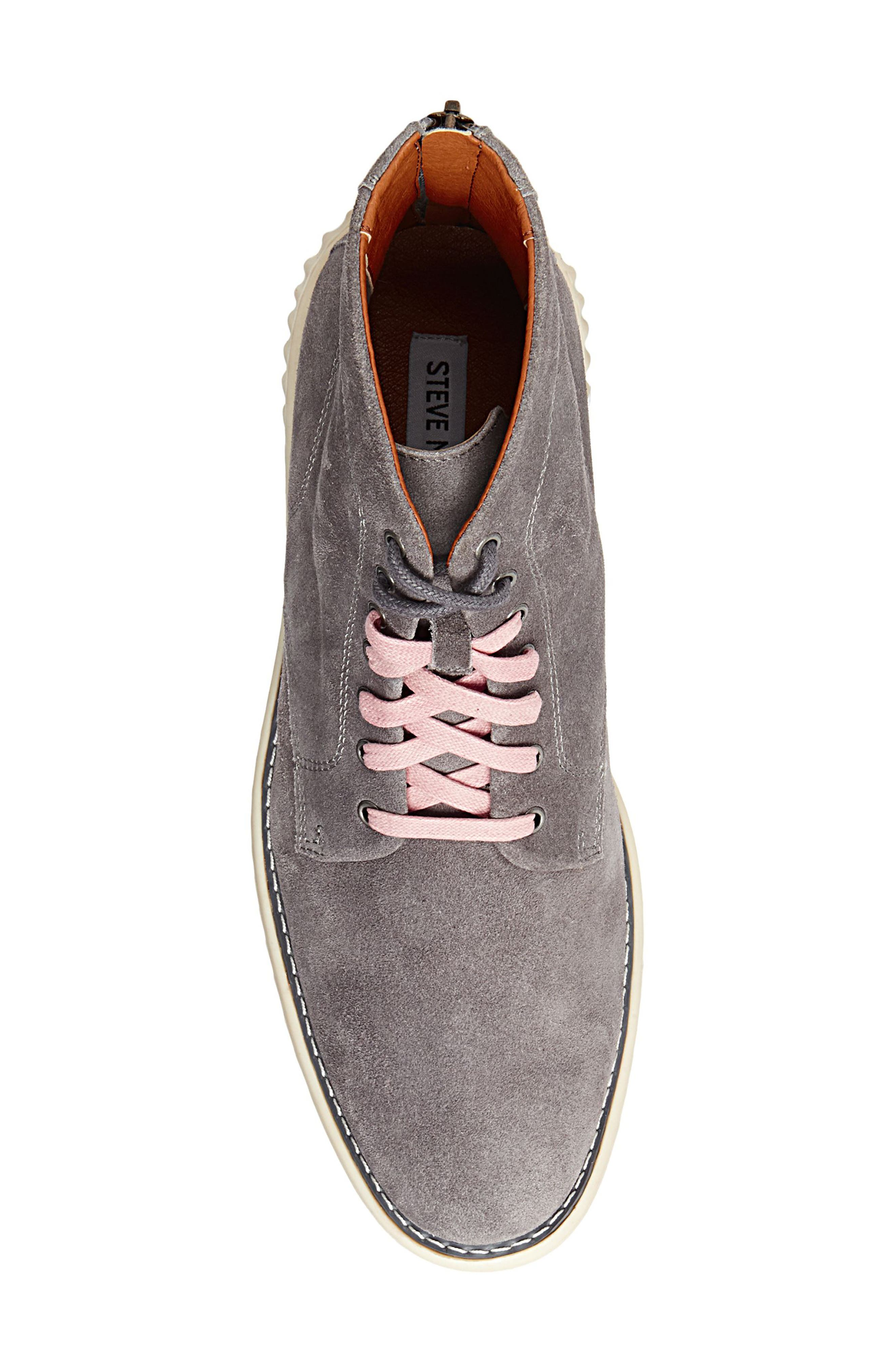 Verner Suede Plain Toe Boot,                             Alternate thumbnail 5, color,                             Dark Grey Suede