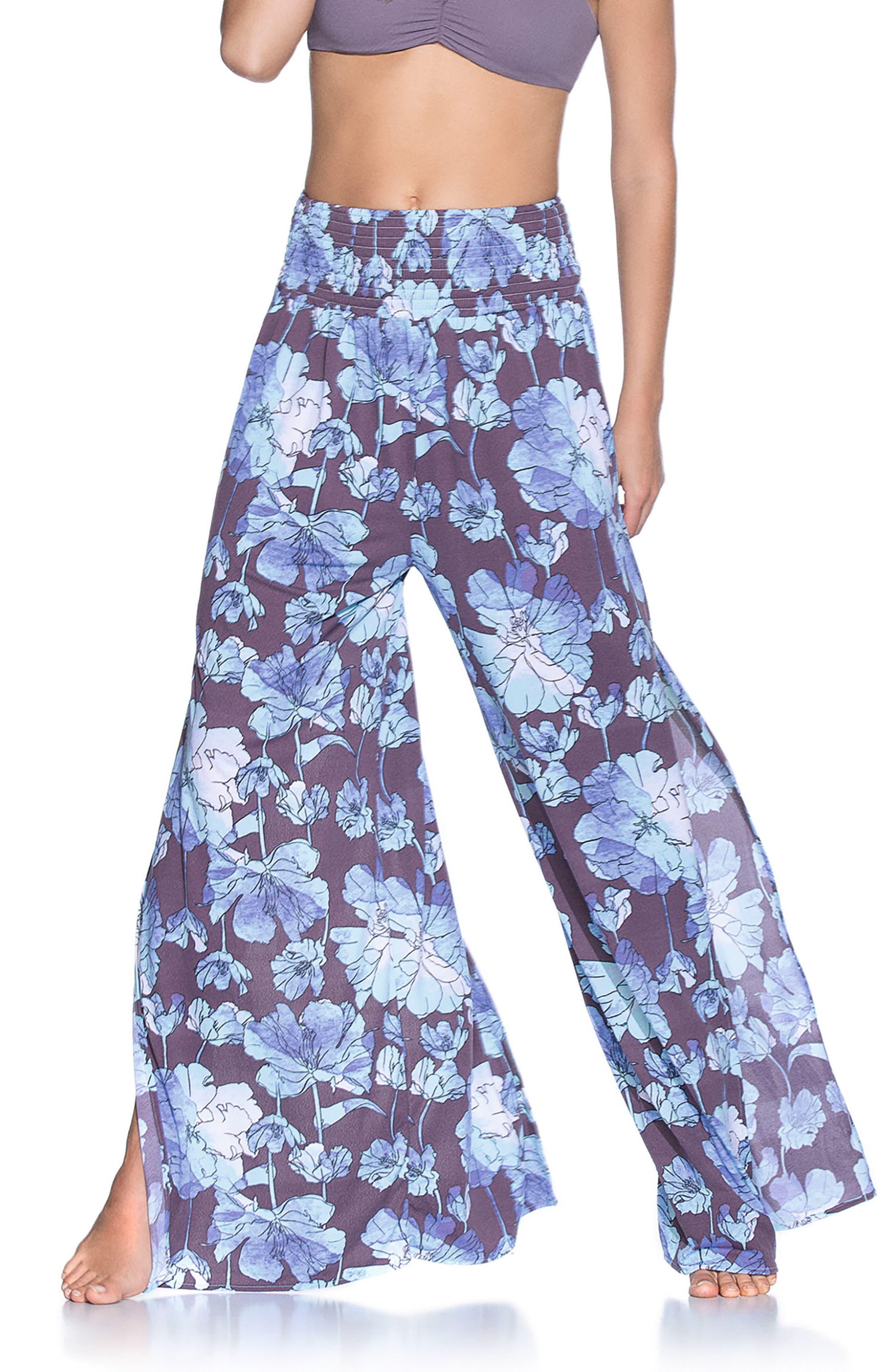 Watercolor Lagune Cover-Up Pants,                         Main,                         color, Purple Multi
