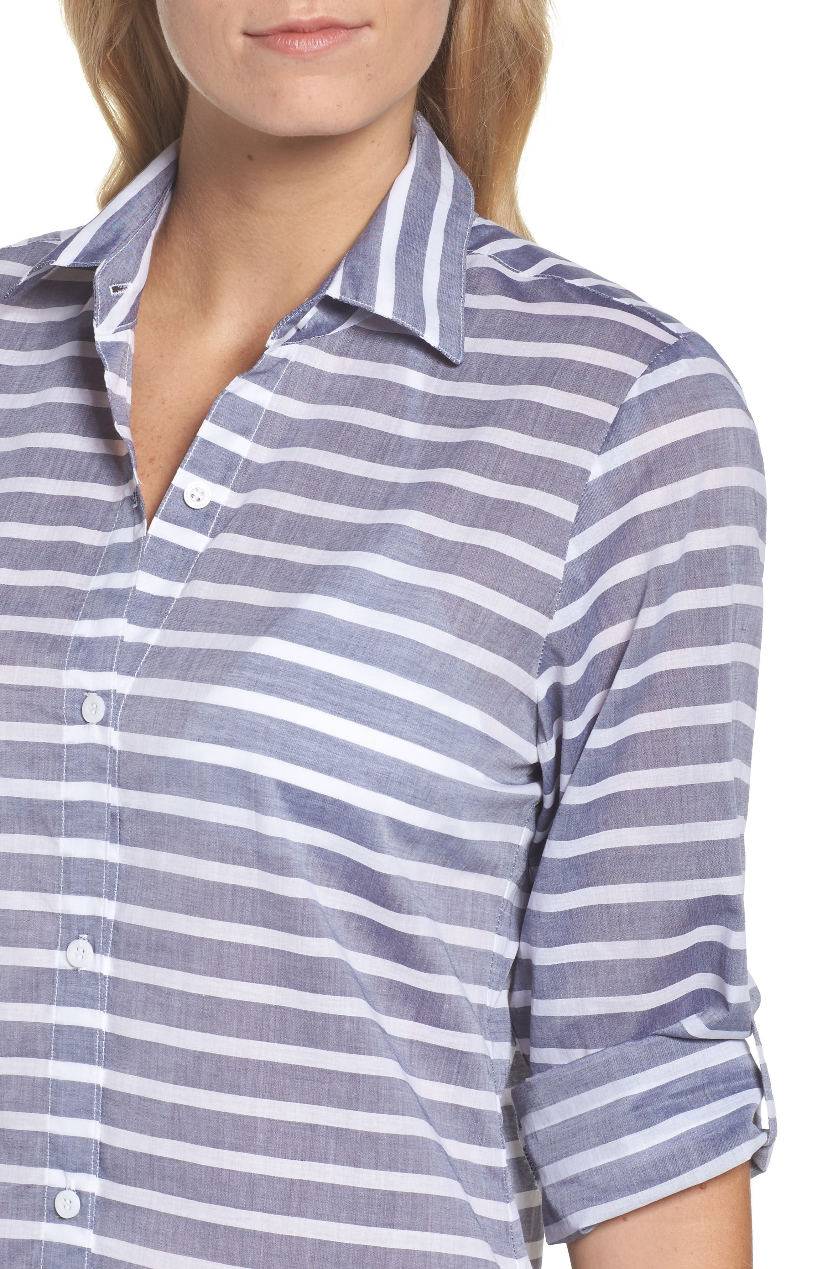 Alternate Image 4  - Tommy Bahama Brenton Stripe Boyfriend Shirt Cover-Up
