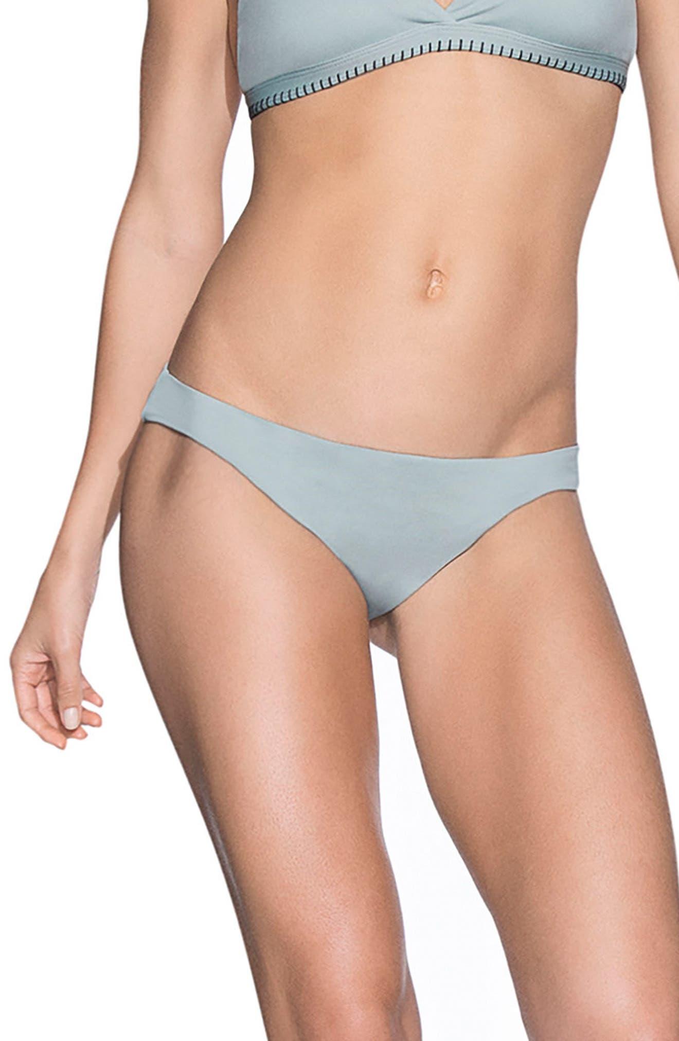 Lily Pad Flirt Signature Cut Reversible Bikini Bottoms,                             Main thumbnail 1, color,                             Open Green