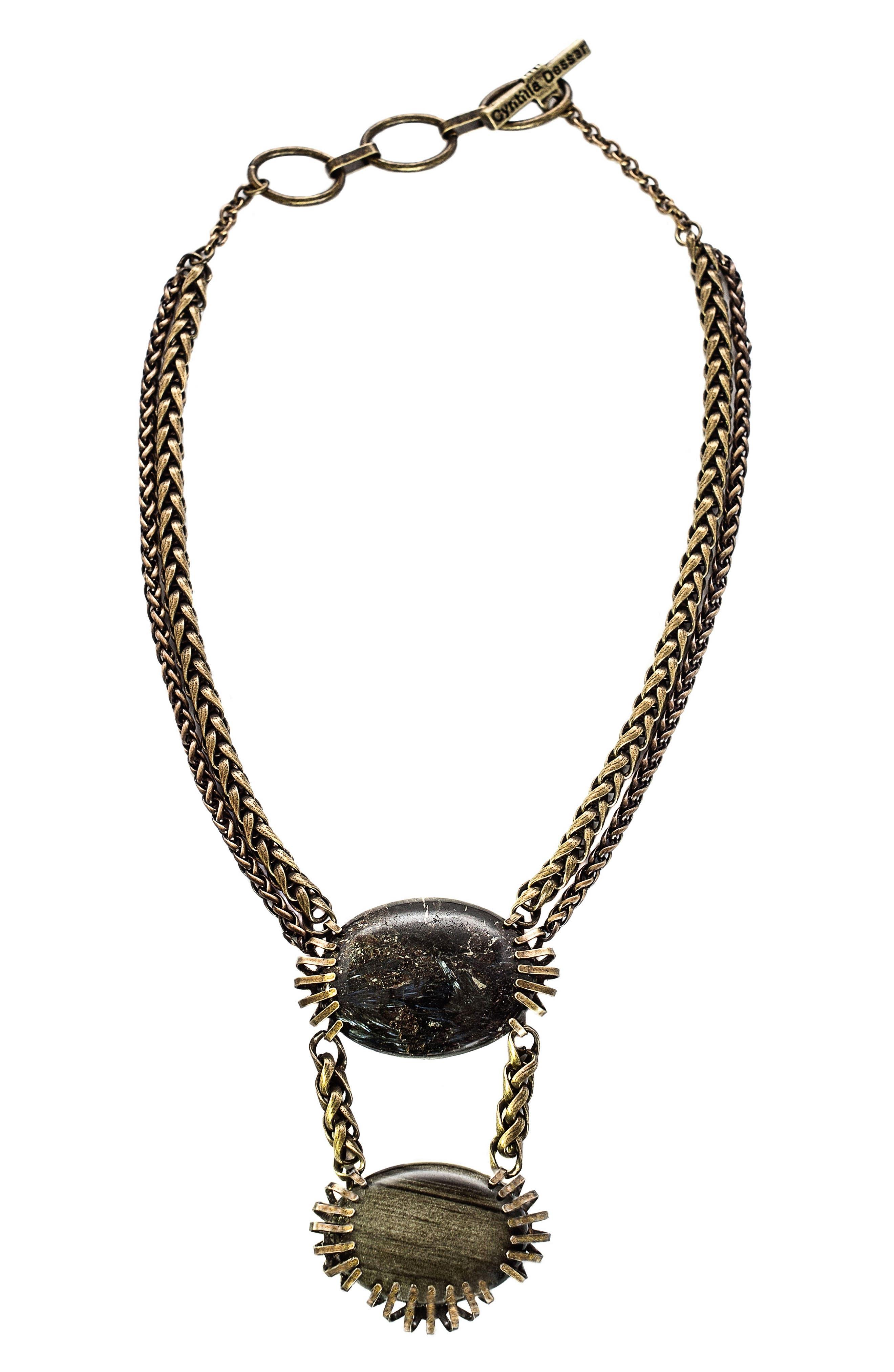 Alternate Image 1 Selected - Cynthia Desser Feldspar Pendant Necklace