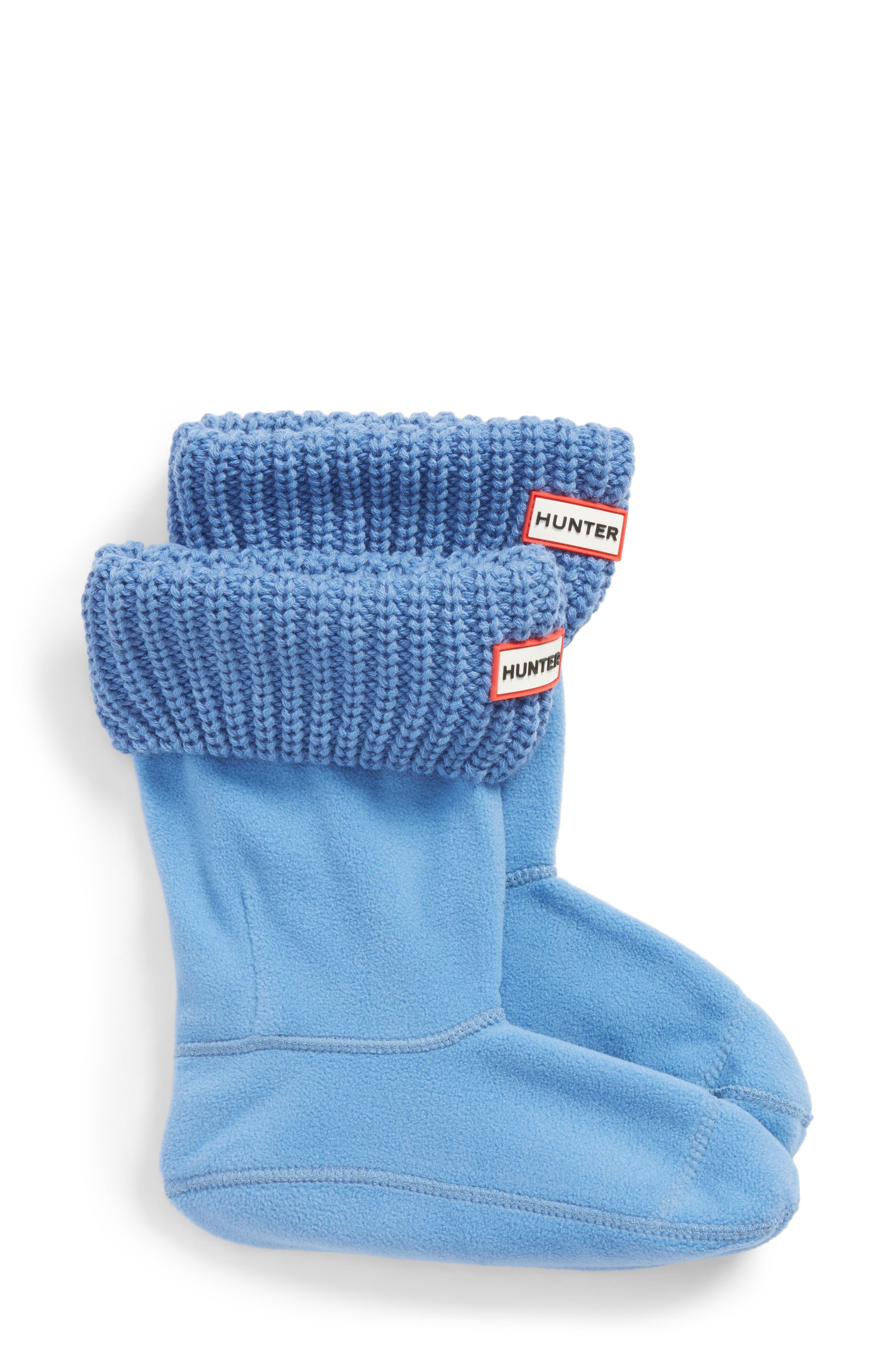 Main Image - Hunter 'Half Cardigan' Fleece Boot Socks (Women)
