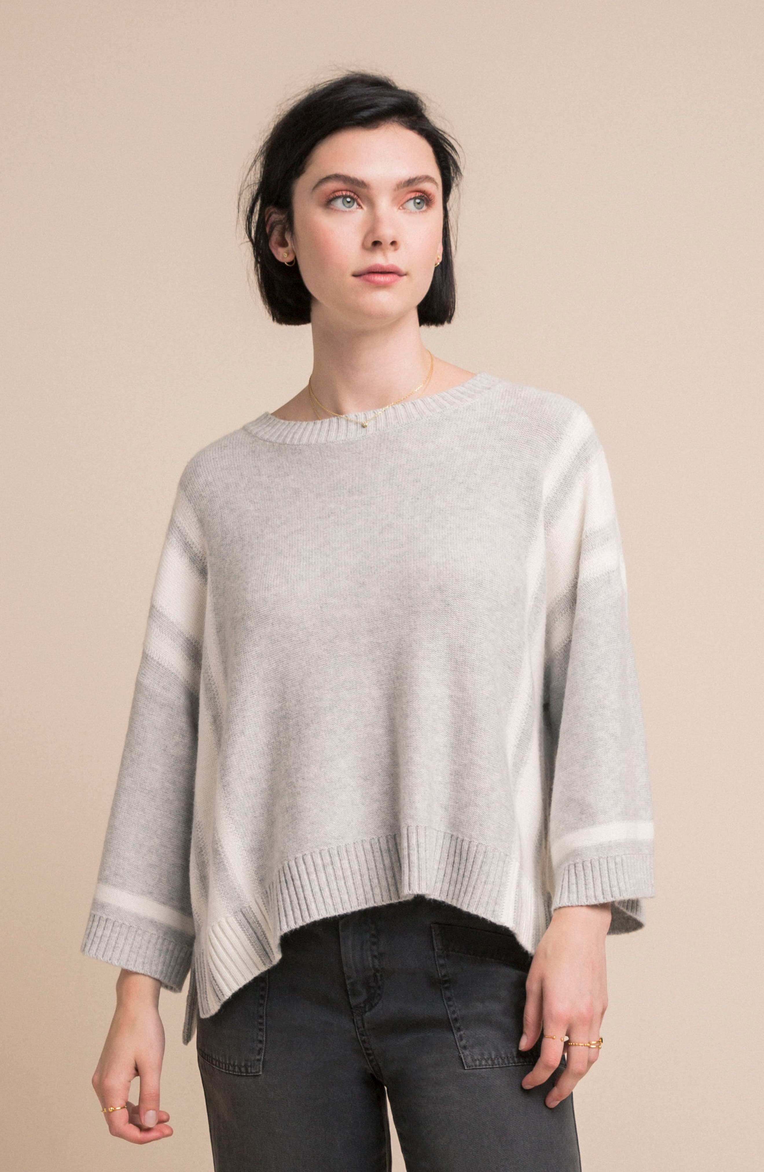 Bell Sleeve Sweater,                             Alternate thumbnail 2, color,                             Grey
