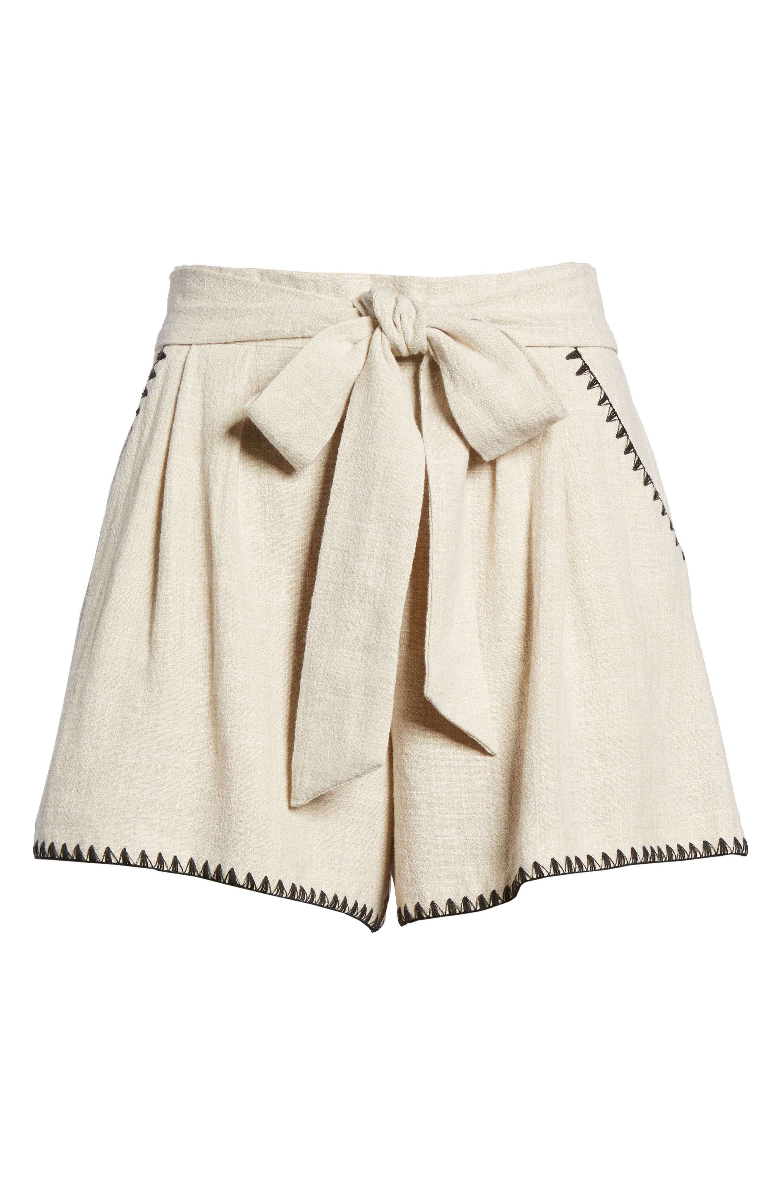 Alternate Image 7  - MOON RIVER Pleat Blanket Stitch Shorts