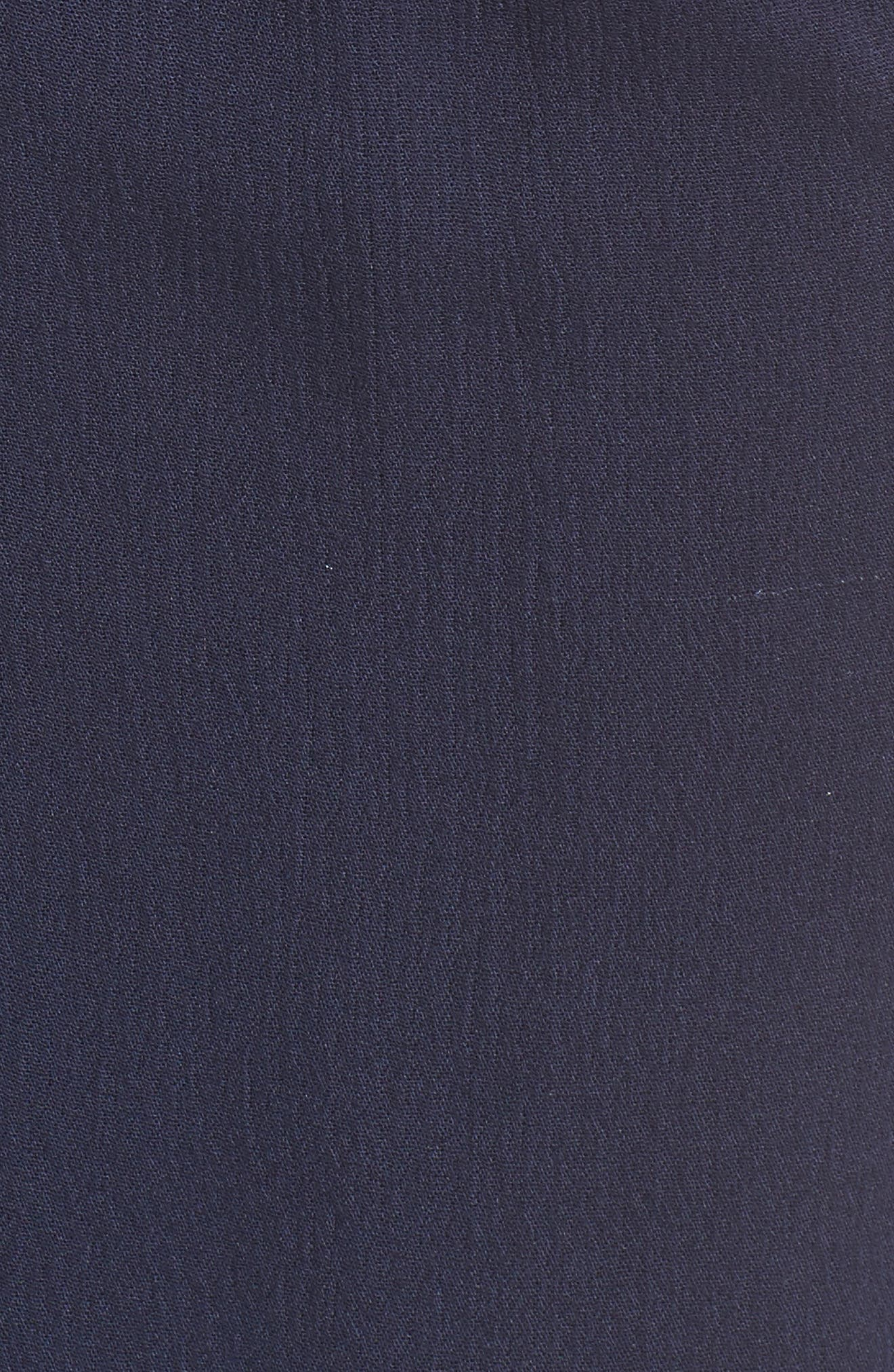 Tie Front Midi Dress,                             Alternate thumbnail 5, color,                             Navy