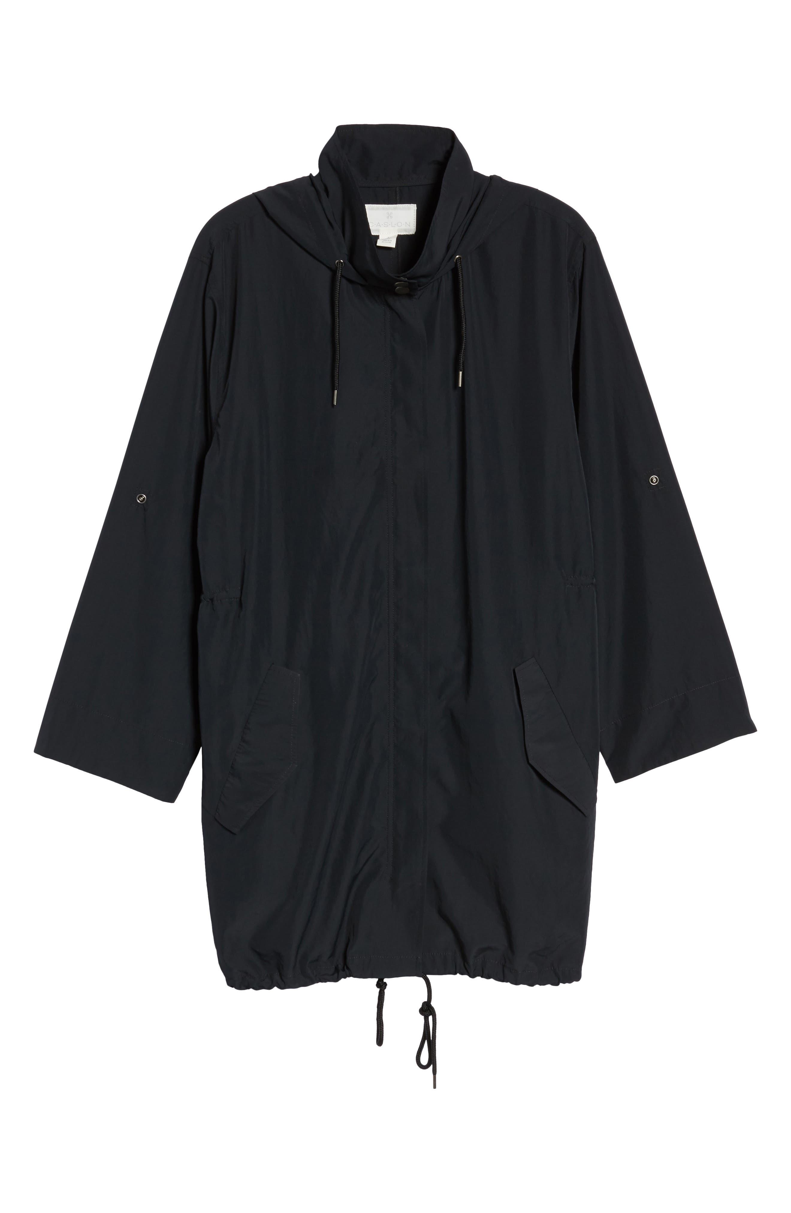 Tumbled Anorak Jacket,                             Alternate thumbnail 7, color,                             Black