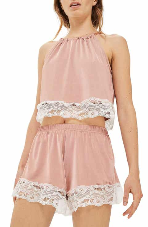 Topshop Satin & Lace Halter Pajama Top Best Reviews