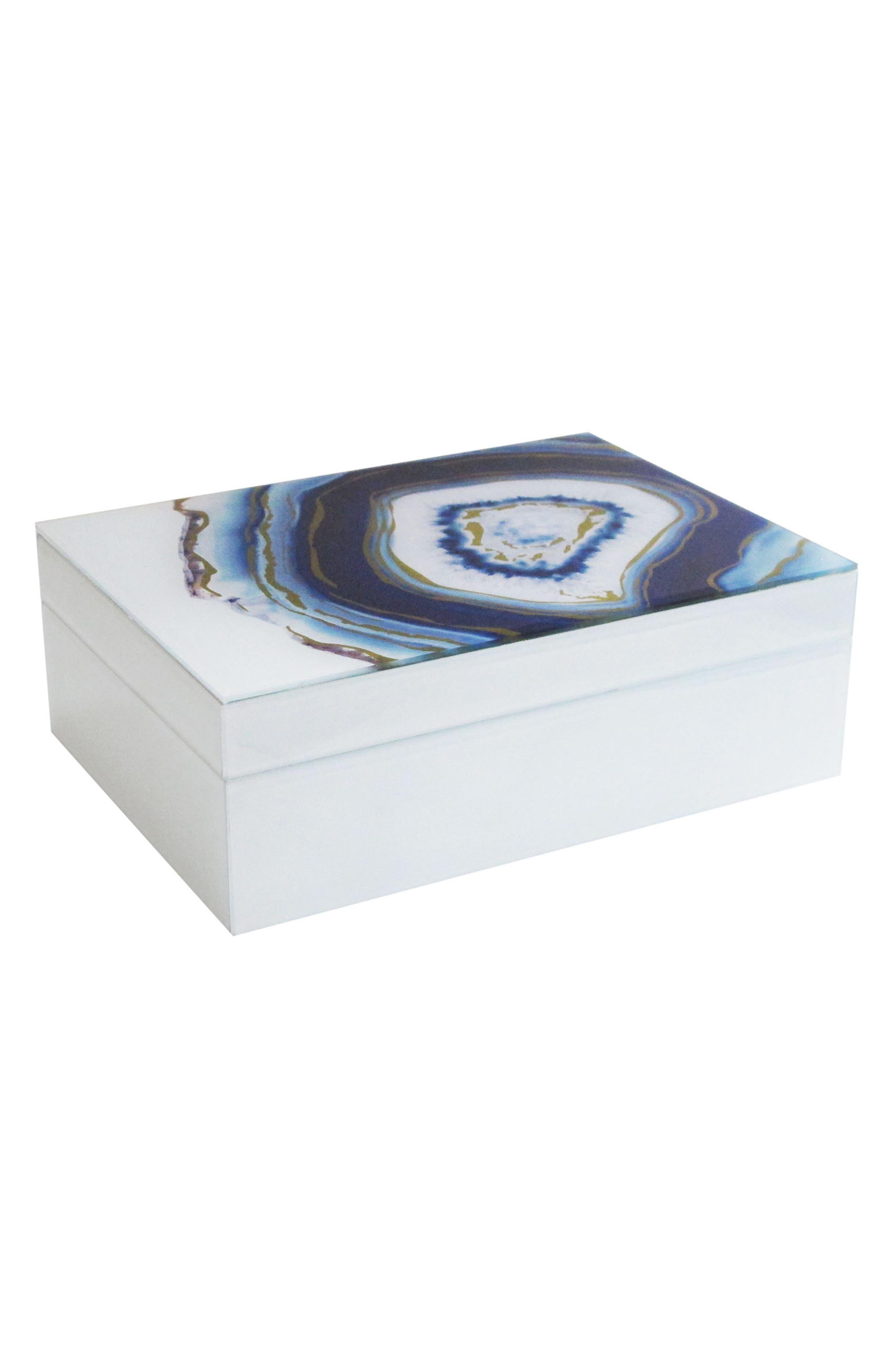American Atelier Agate Swirl Jewelry Box