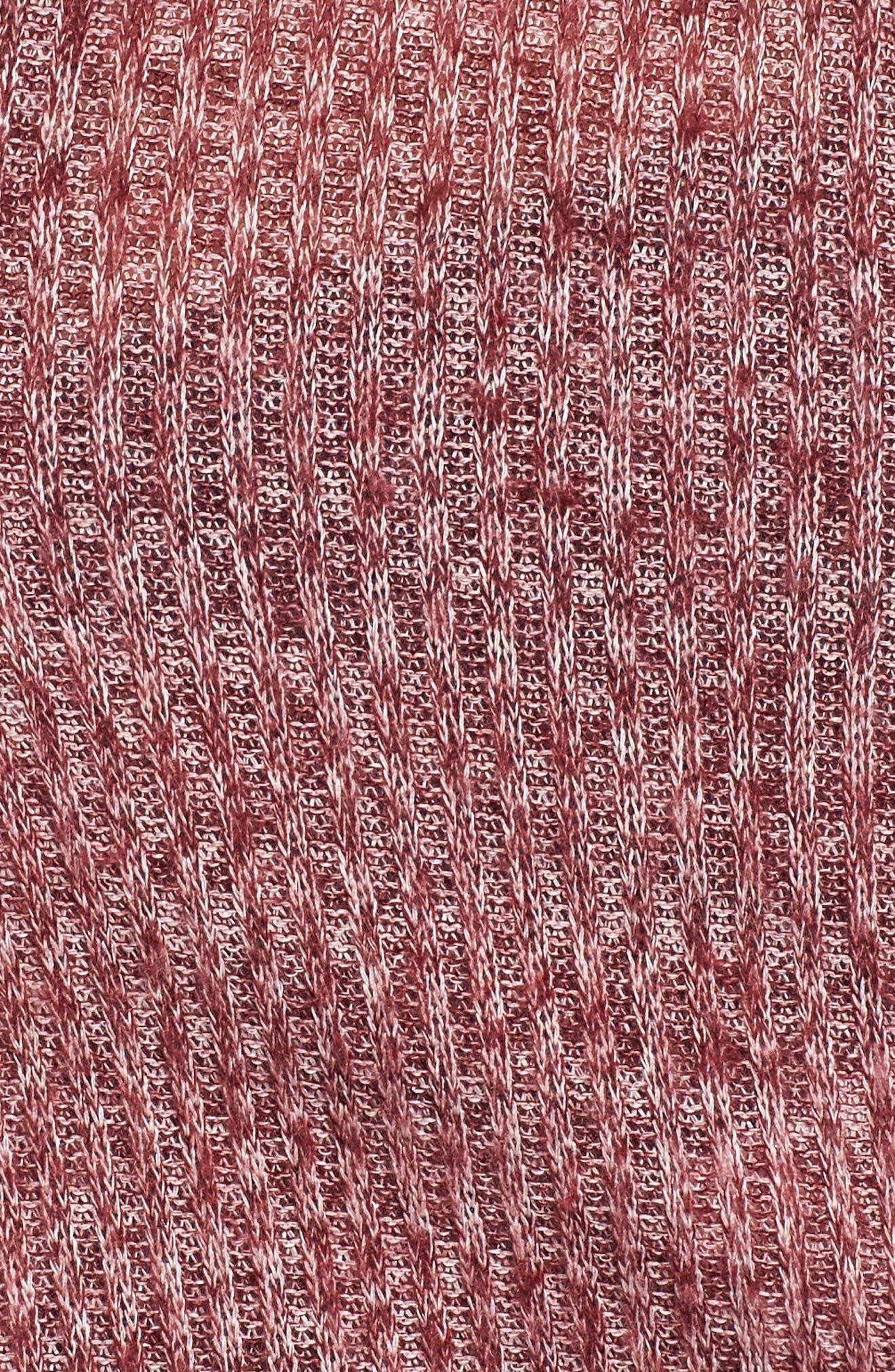 Rib Knit Corset Top,                             Alternate thumbnail 5, color,                             Burgundy Royale