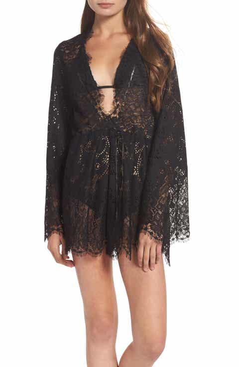 For Love & Lemons Olympia Lace Cover-Up Romper
