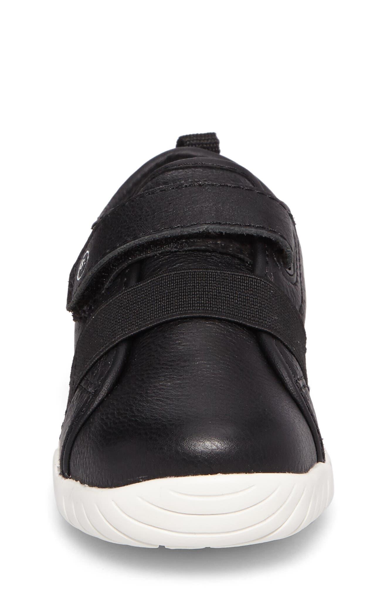SRT Riley Sneaker,                             Alternate thumbnail 4, color,                             Black Leather