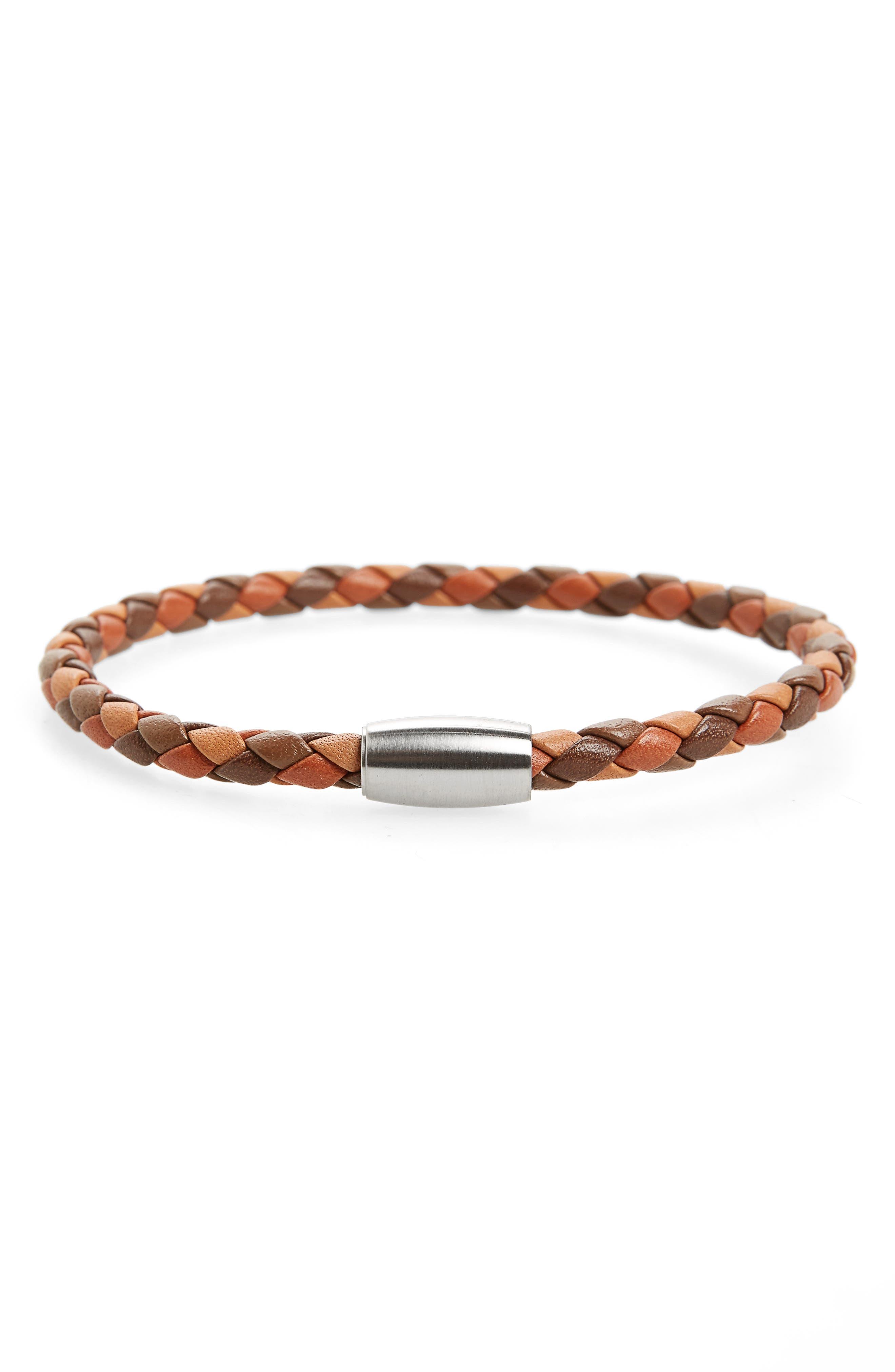 LINK UP Woven Leather Bracelet