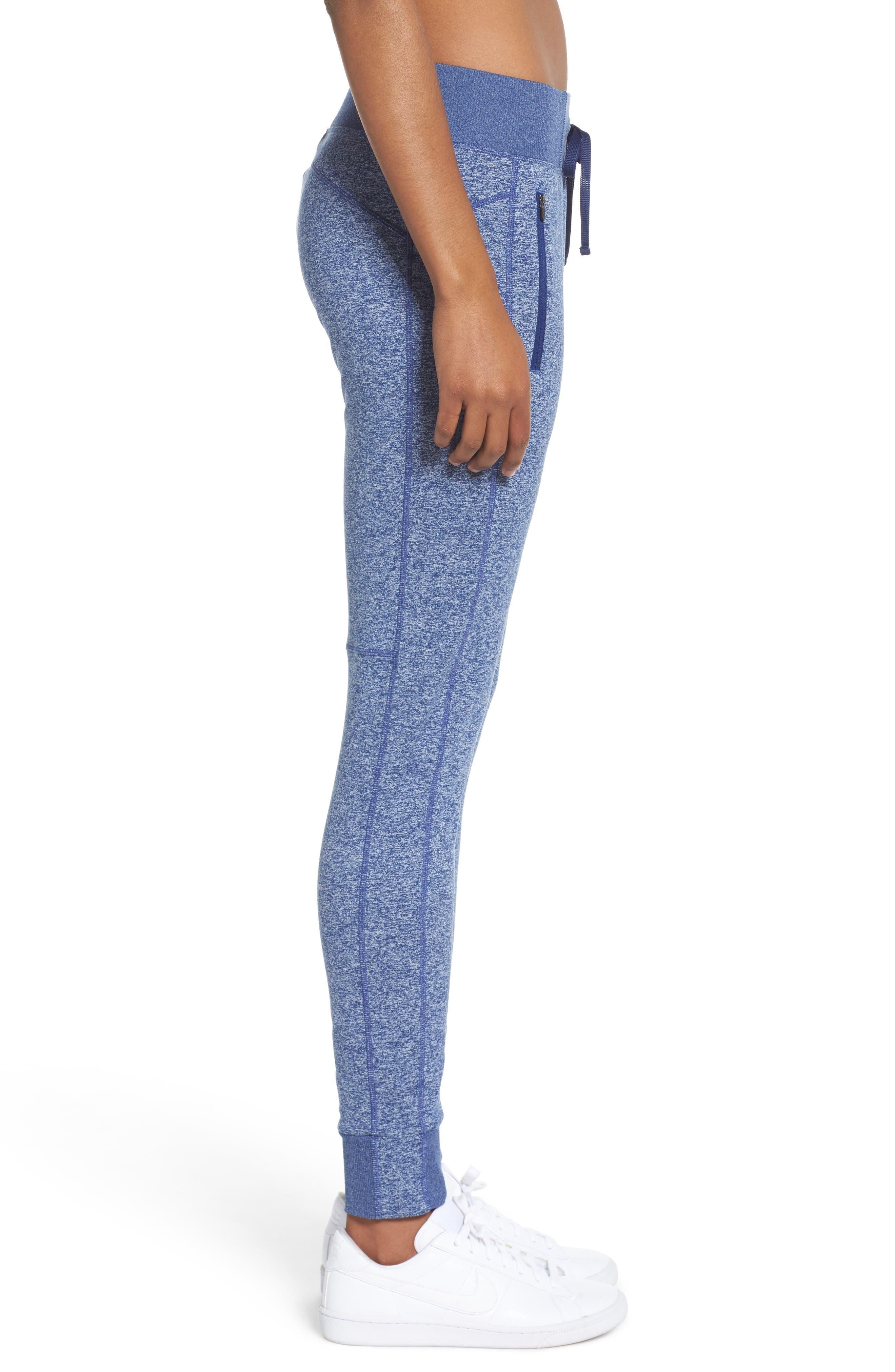 Taryn Sport Knit Pants,                             Alternate thumbnail 3, color,                             Blue Depths Melange