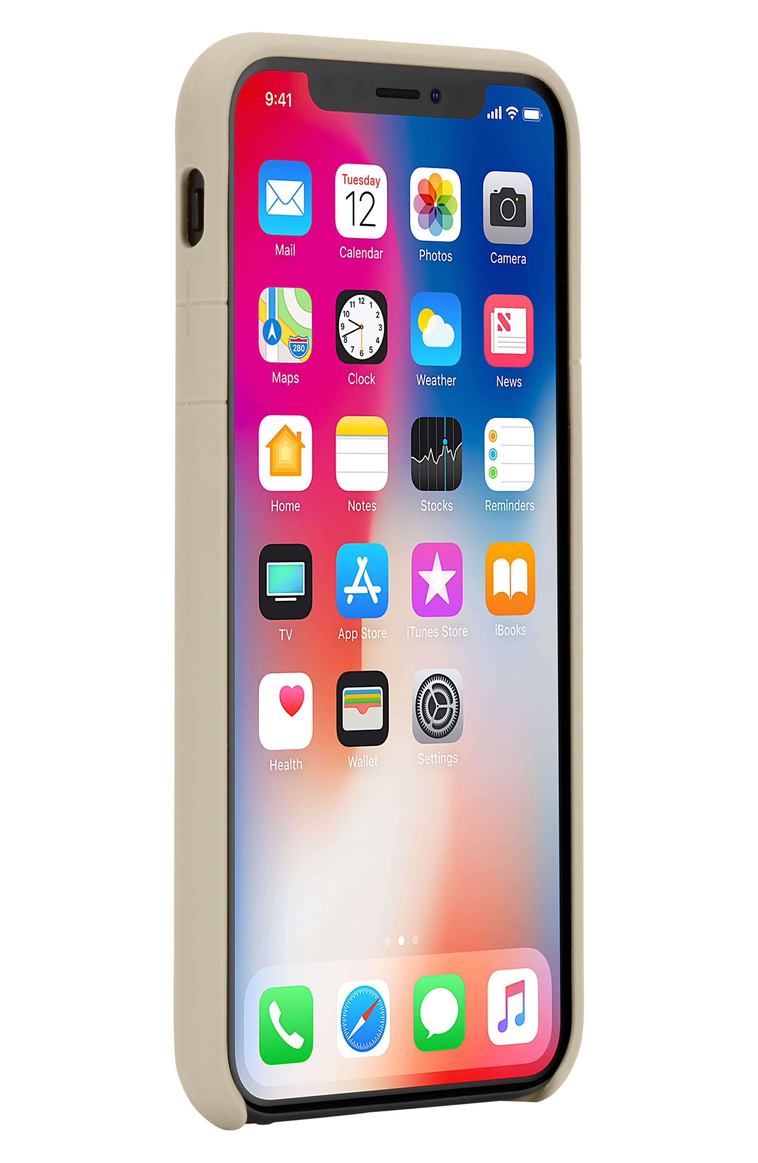 Facet iPhone X Case,                             Alternate thumbnail 8, color,                             Gold