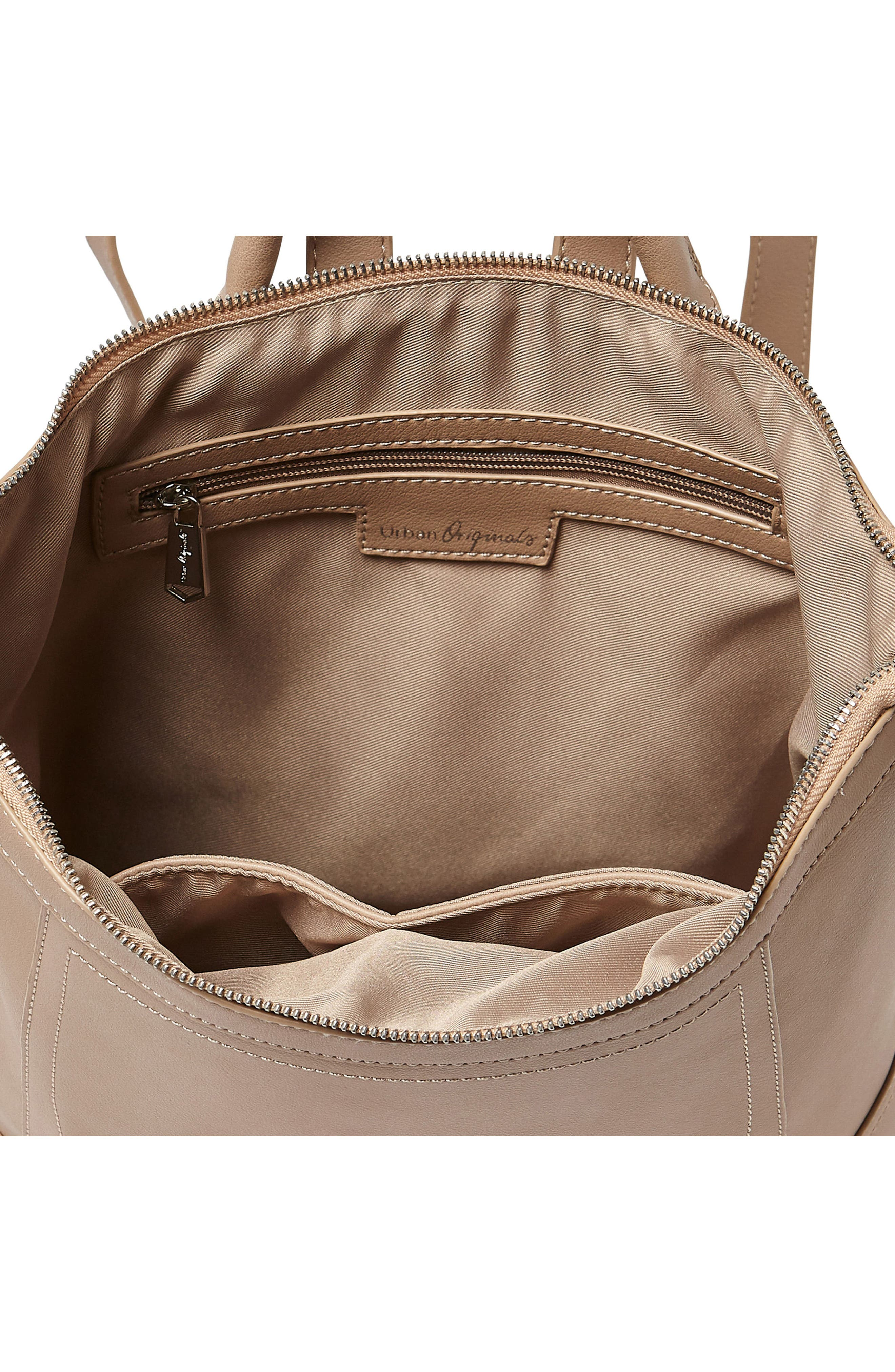 Eternity Vegan Leather Backpack,                             Alternate thumbnail 3, color,                             Taupe
