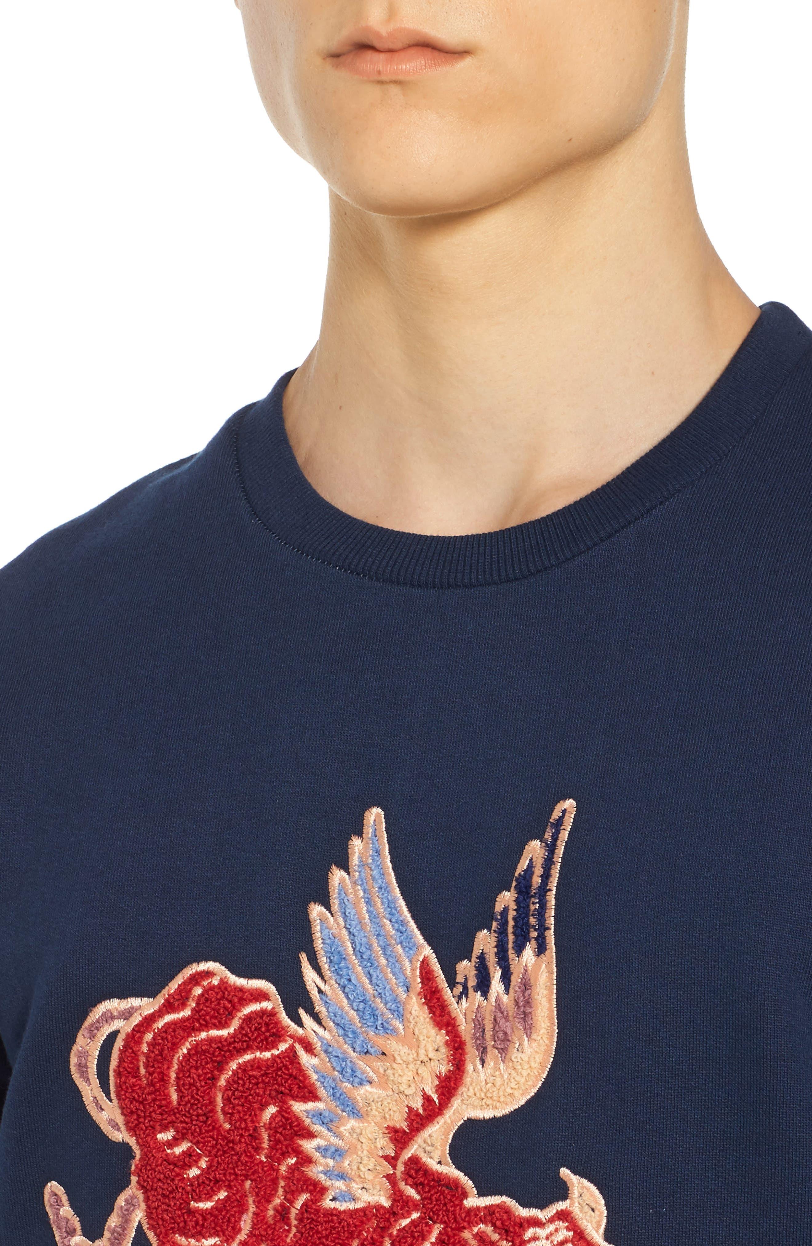 Alternate Image 4  - ELEVENPARIS Nokat Appliqué Sweatshirt