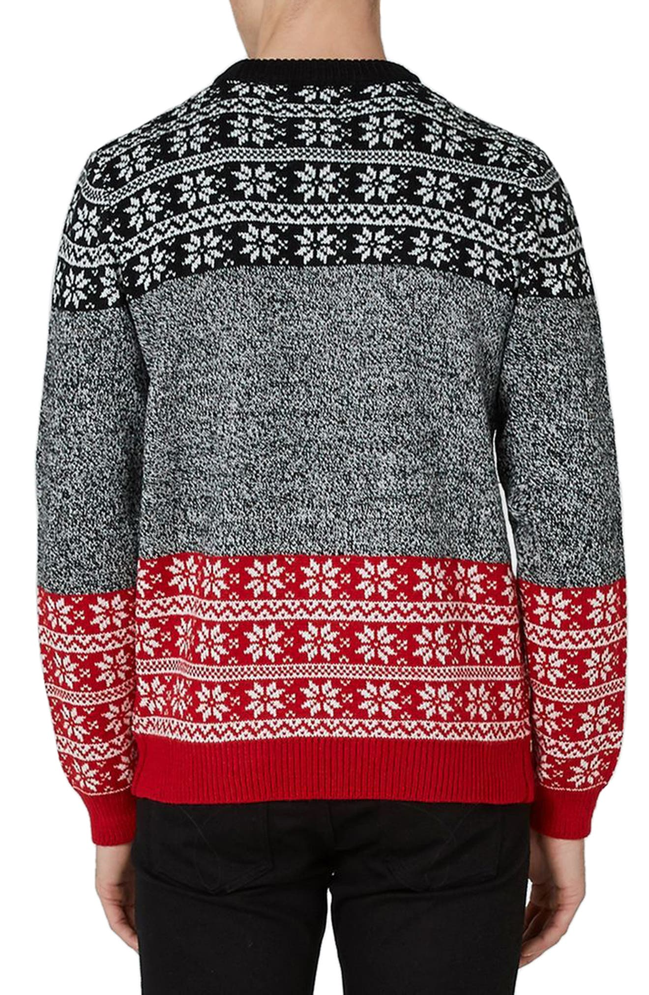 Sleigh My Name Sweater,                             Alternate thumbnail 2, color,                             Grey Multi