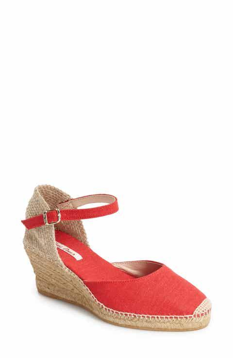Toni Pons 'Caldes' Linen Wedge Sandal (Women) - Women's Red Wedge Sandals Nordstrom Nordstrom