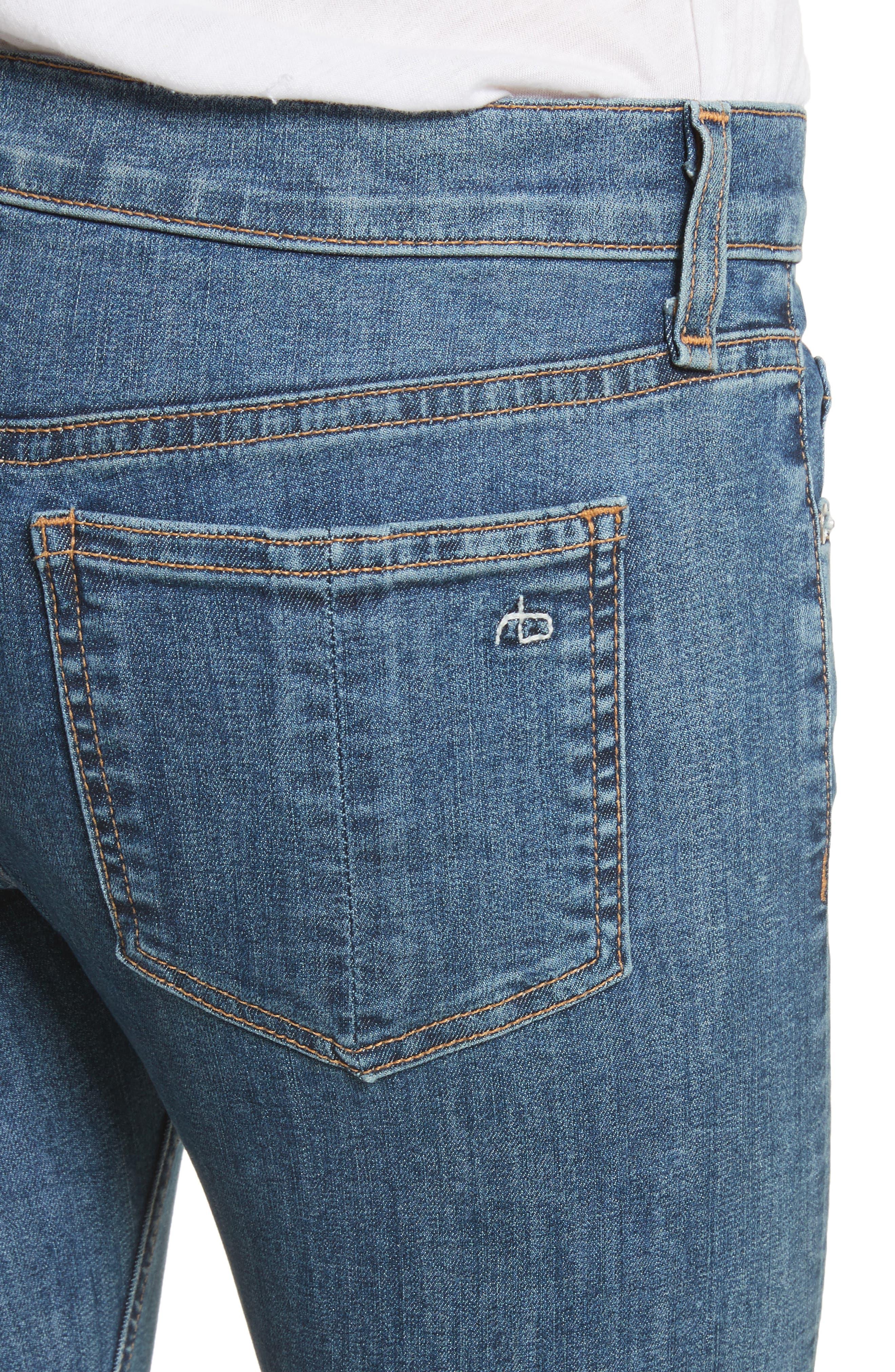 Skinny Jeans,                             Alternate thumbnail 4, color,                             Bloo