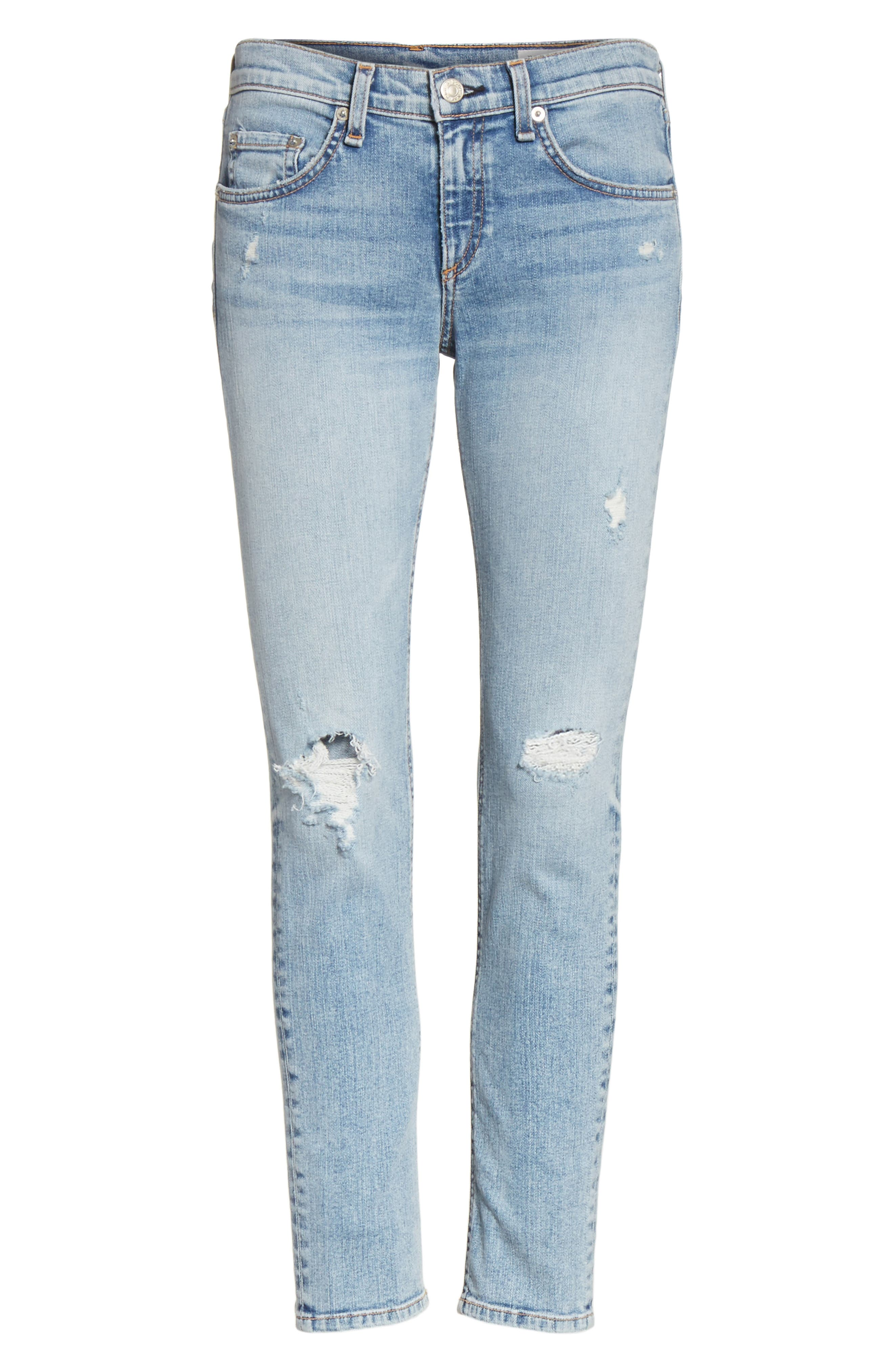 Ankle Skinny Jeans,                             Alternate thumbnail 7, color,                             Double