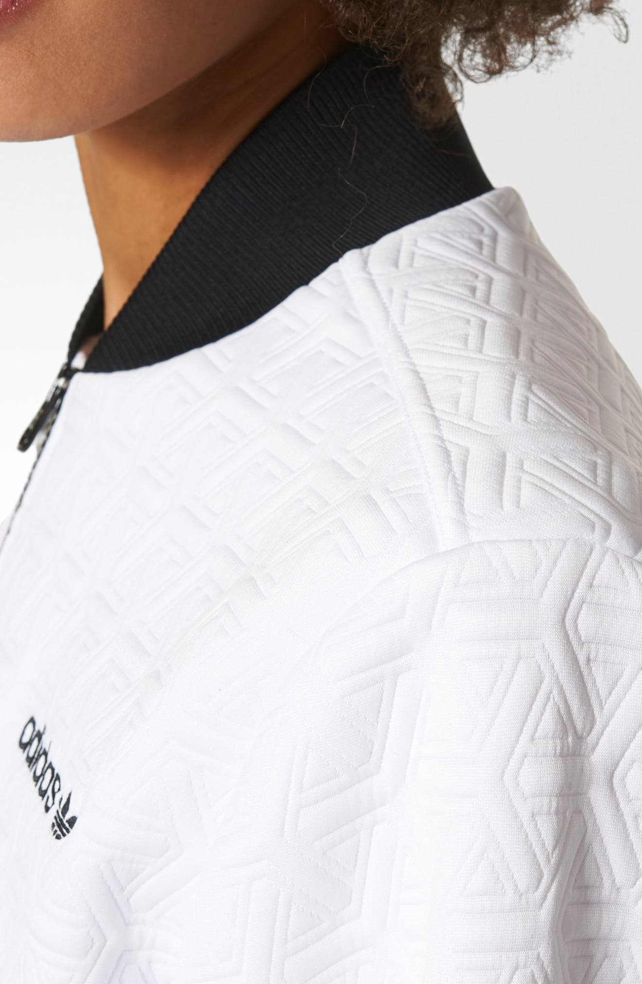 Bomber Track Jacket,                             Alternate thumbnail 4, color,                             White