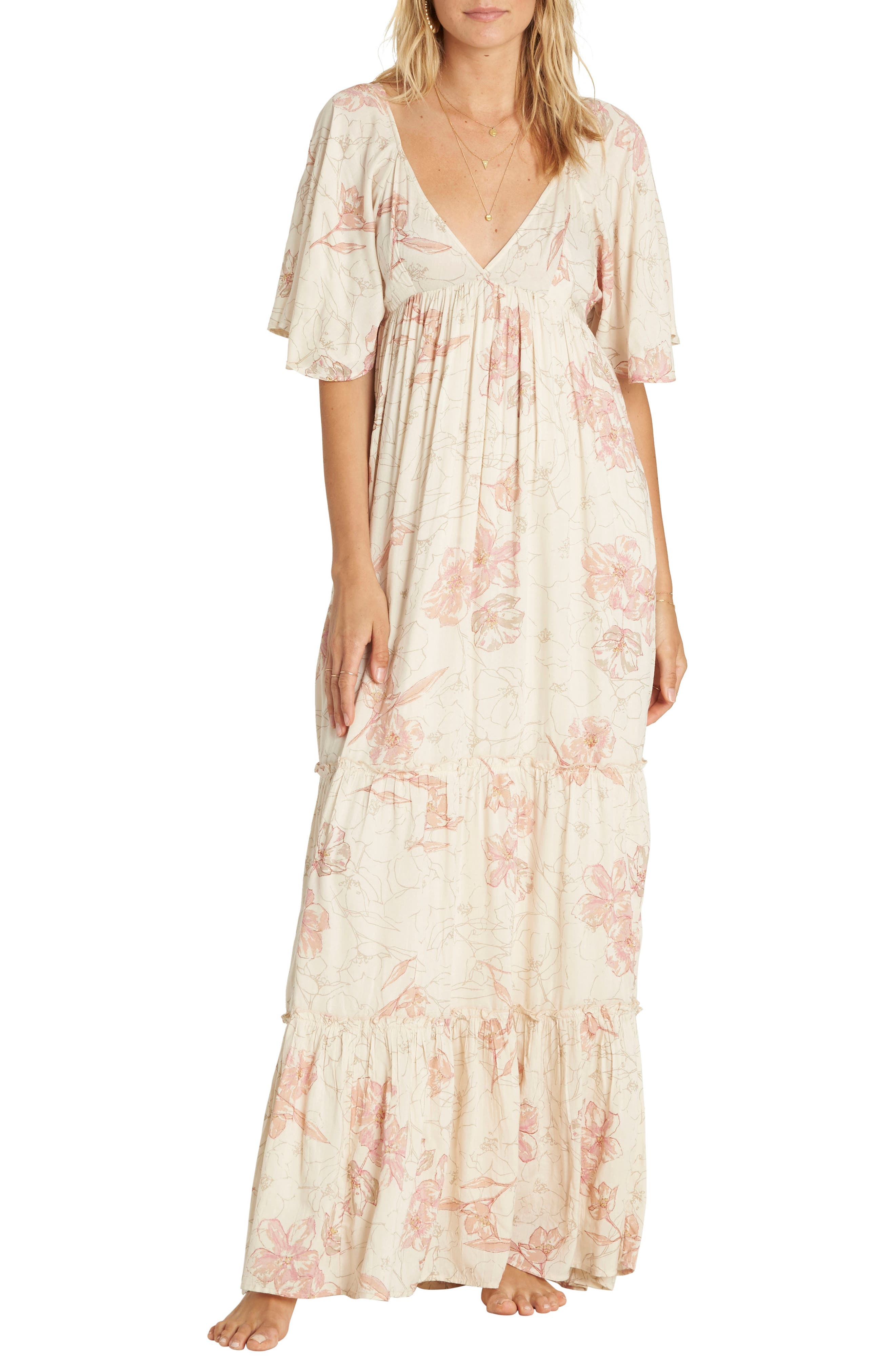 Seas the Day Maxi Dress,                         Main,                         color, Ivory