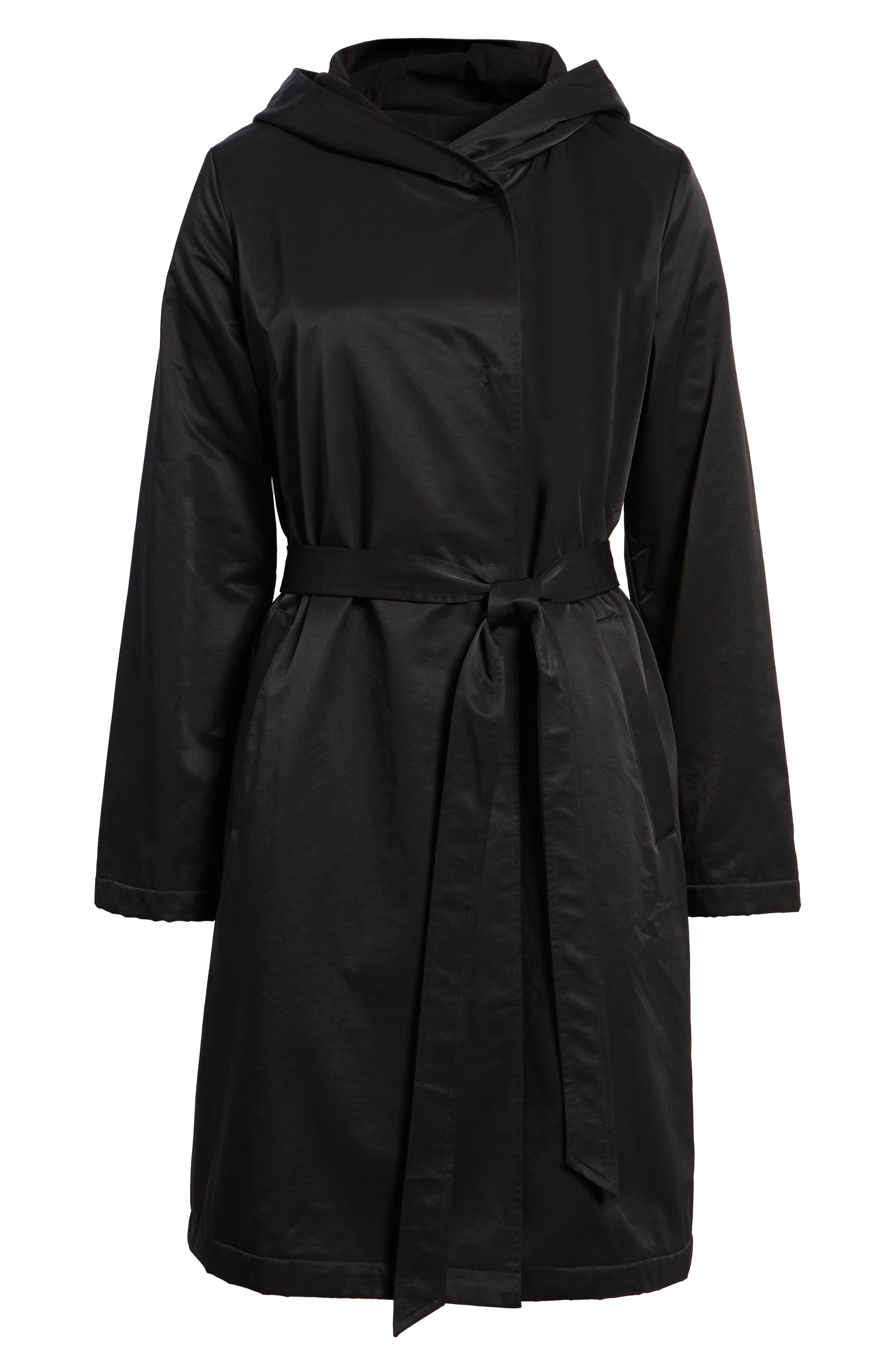Alternate Image 6  - Eileen Fisher Fleece Lined Hooded Coat