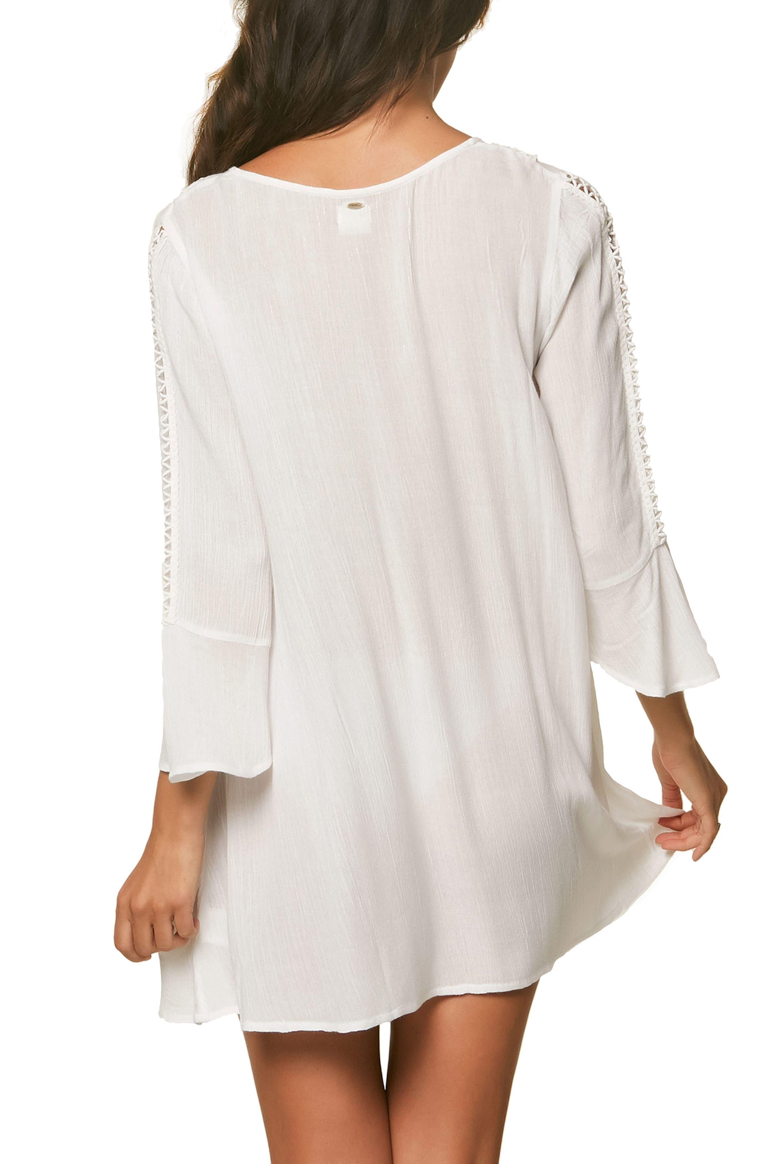 Estella Cover-up Dress,                             Alternate thumbnail 2, color,                             White