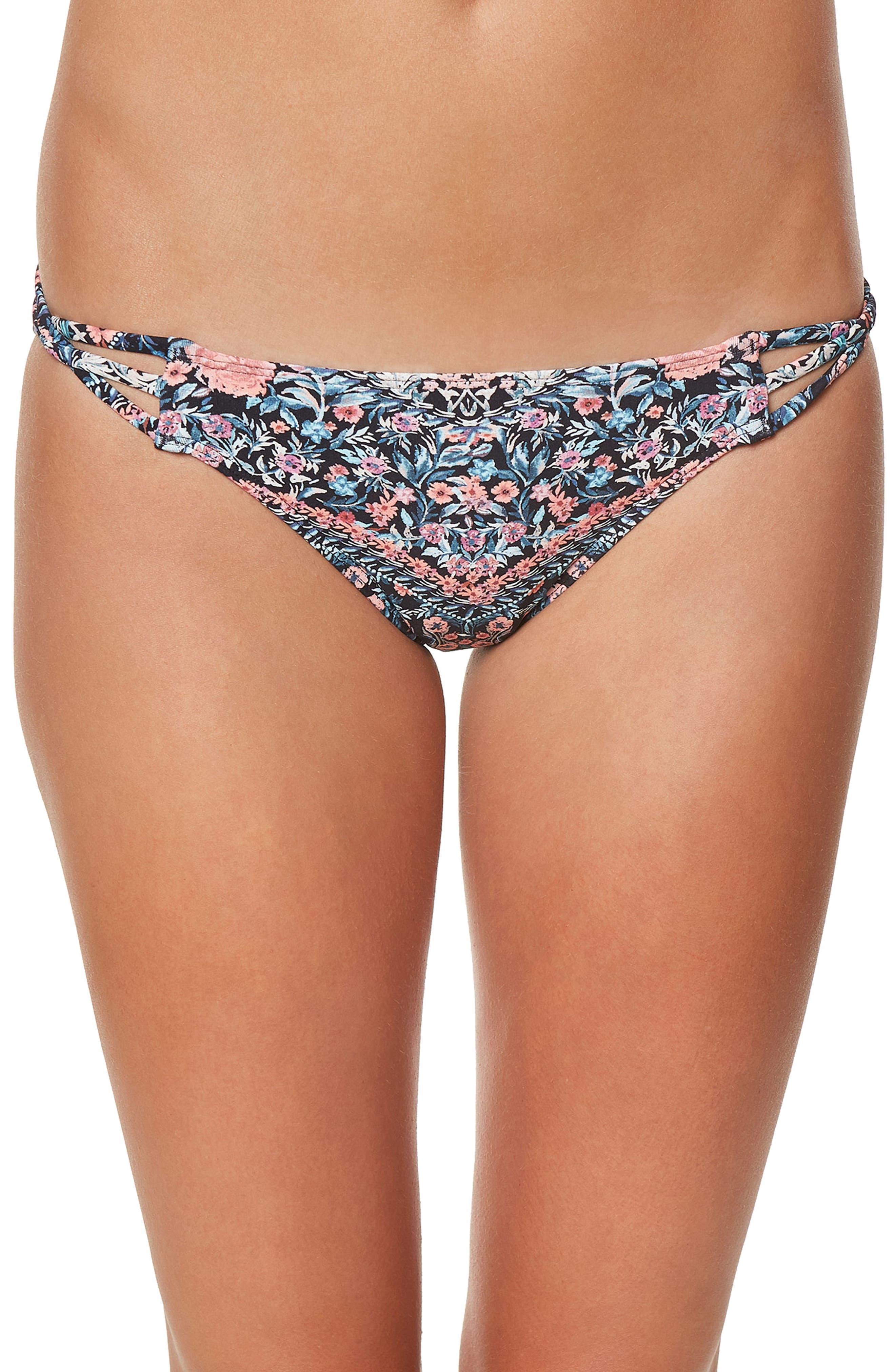 Porter Strappy Bikini Bottom,                         Main,                         color, Multi Color