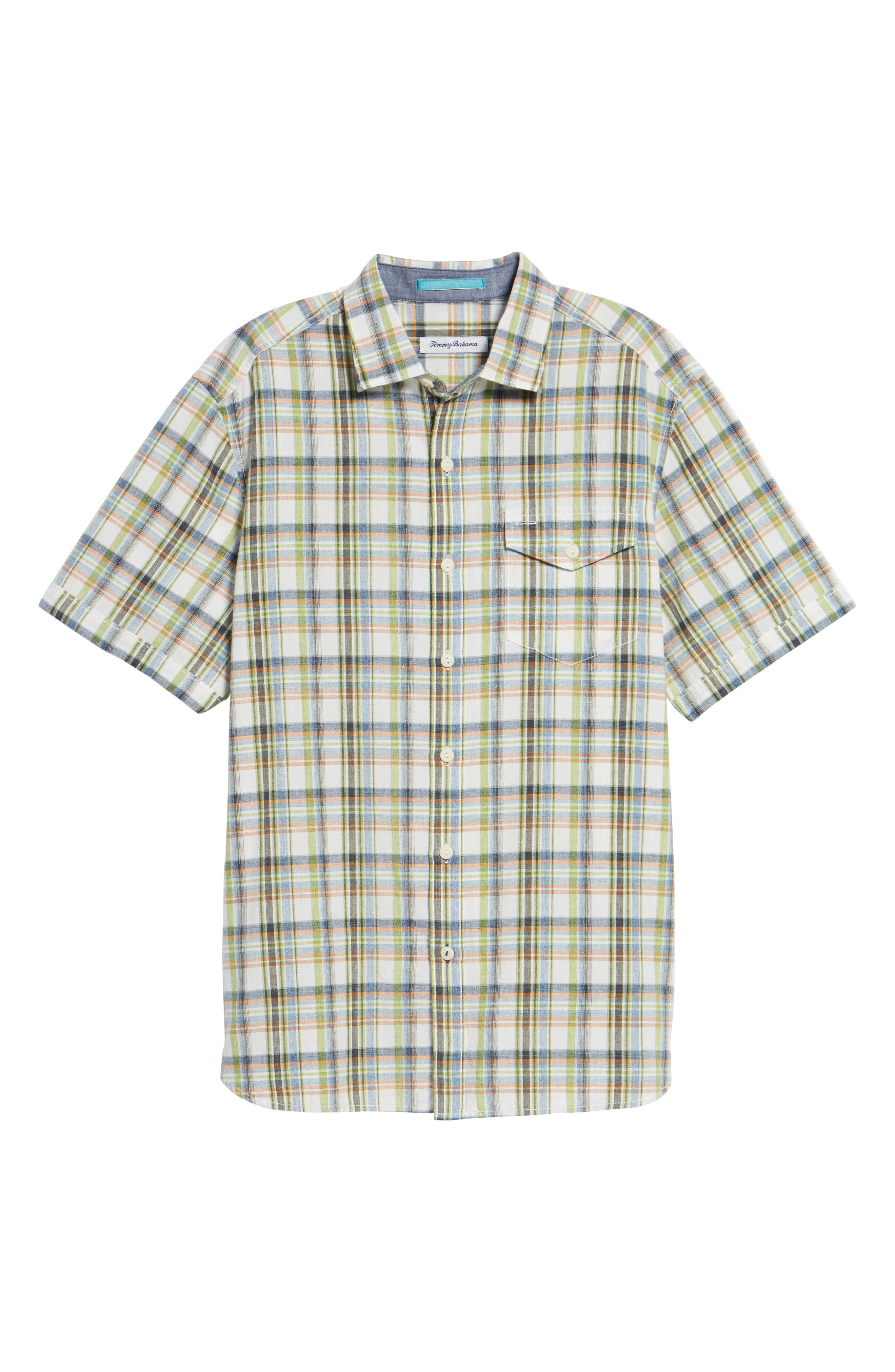 Ocean Cay Plaid Sport Shirt,                             Alternate thumbnail 6, color,                             Tart Apple