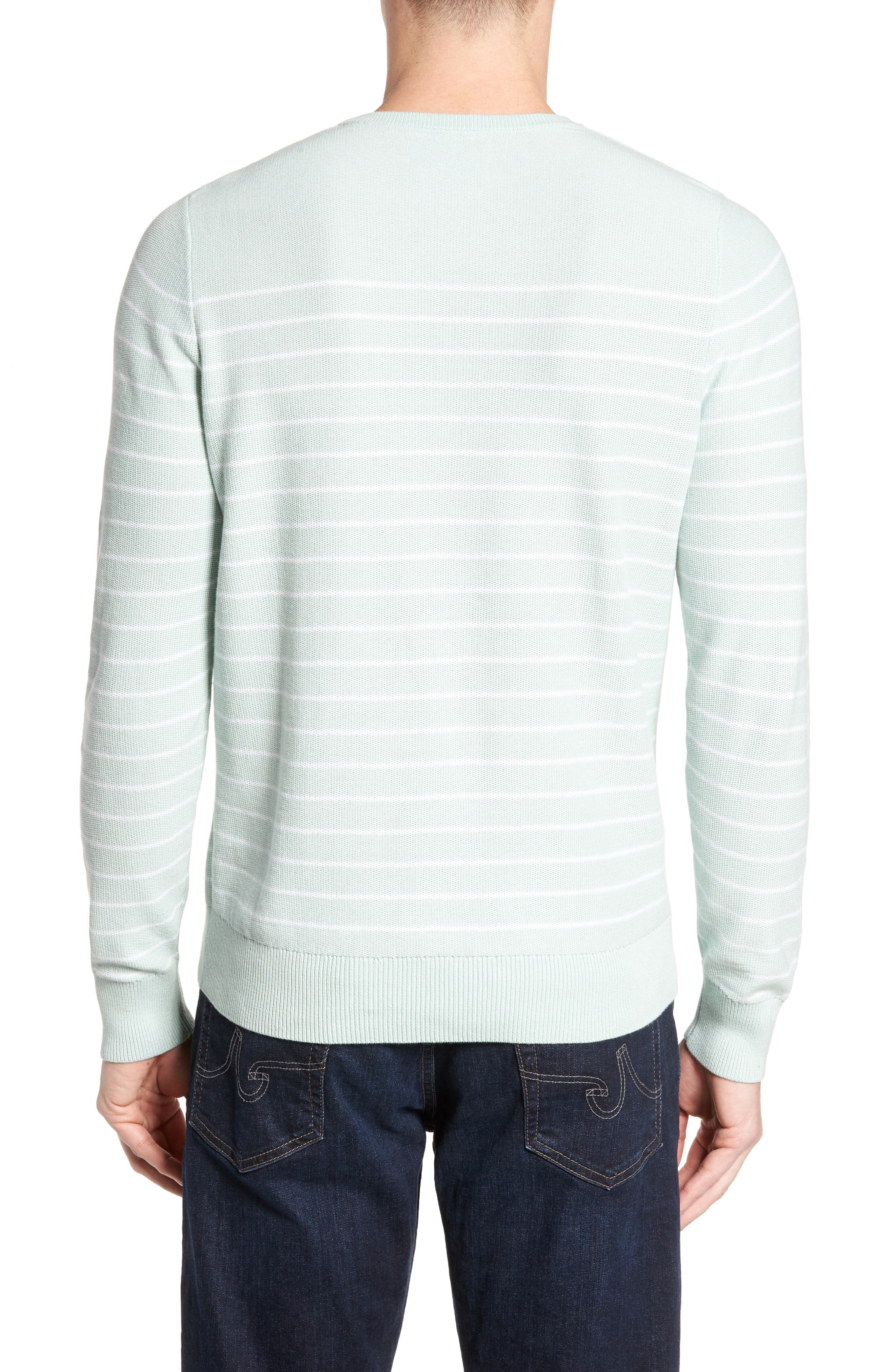 Alternate Image 2  - Nordstrom Men's Shop Stripe Cotton Sweater