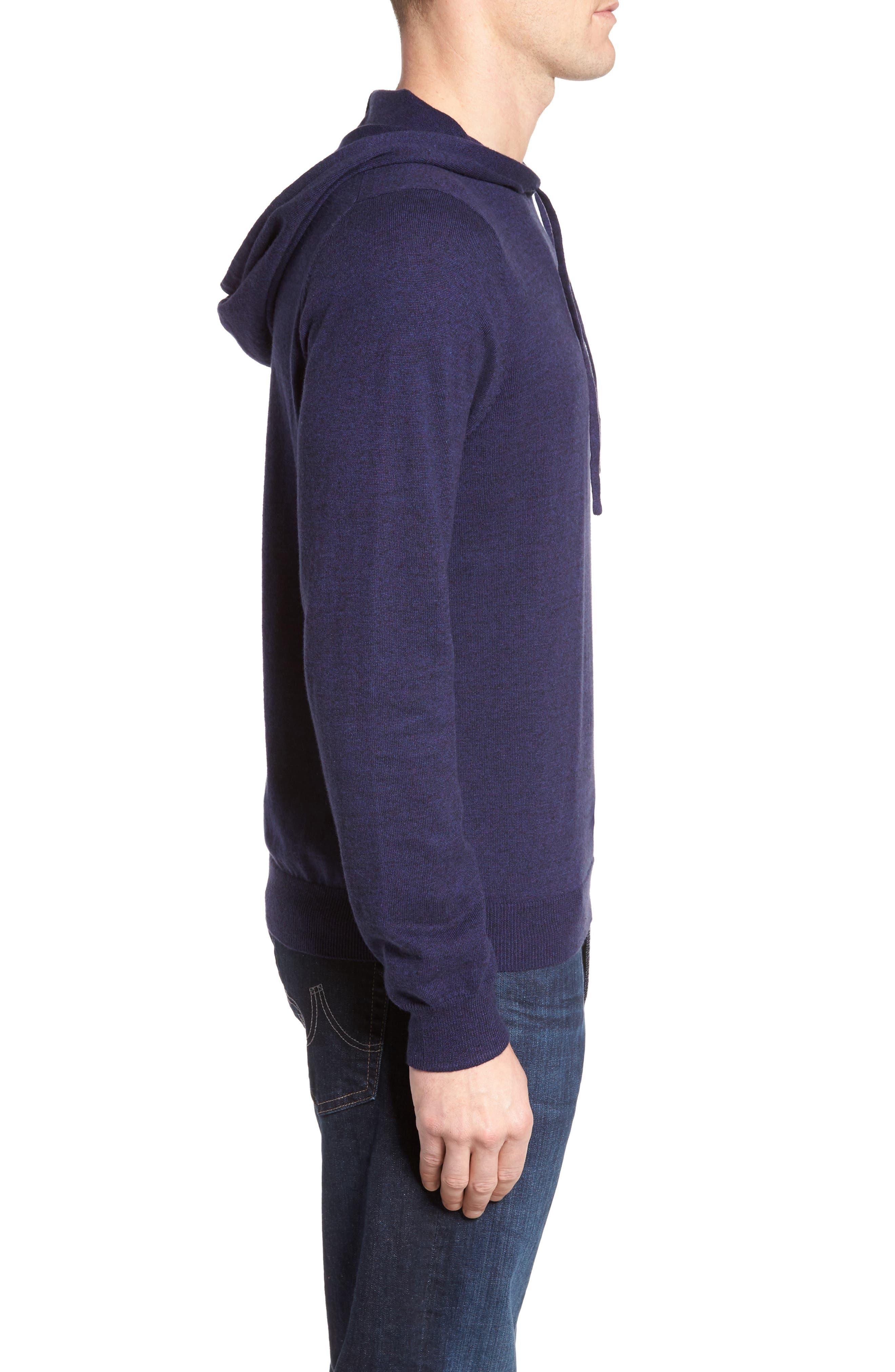 Alternate Image 3  - Nordstrom Men's Shop Fine Gauge Cotton Hoodie