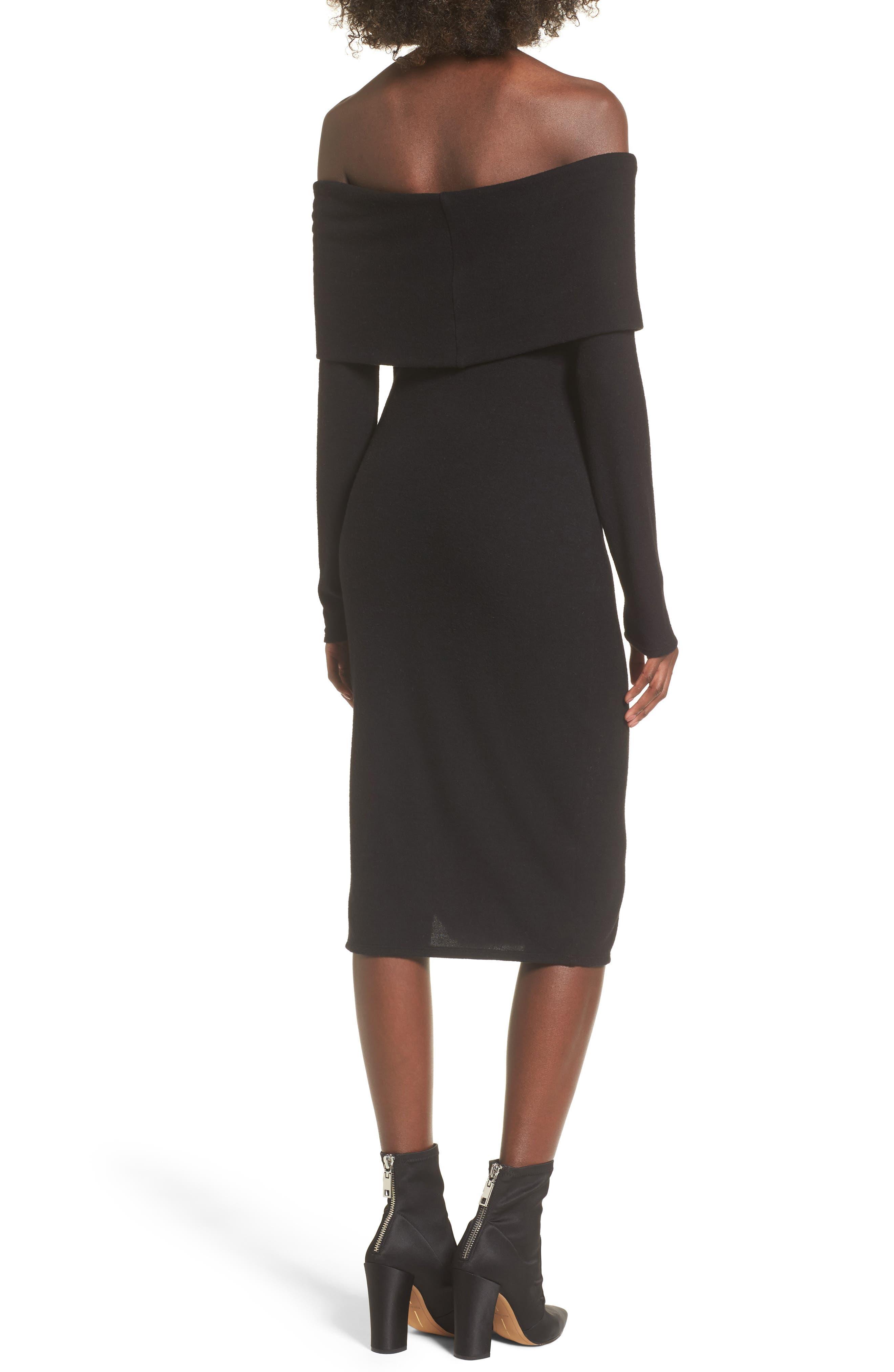 Alternate Image 2  - Socialite Off the Shoulder Sweater Dress