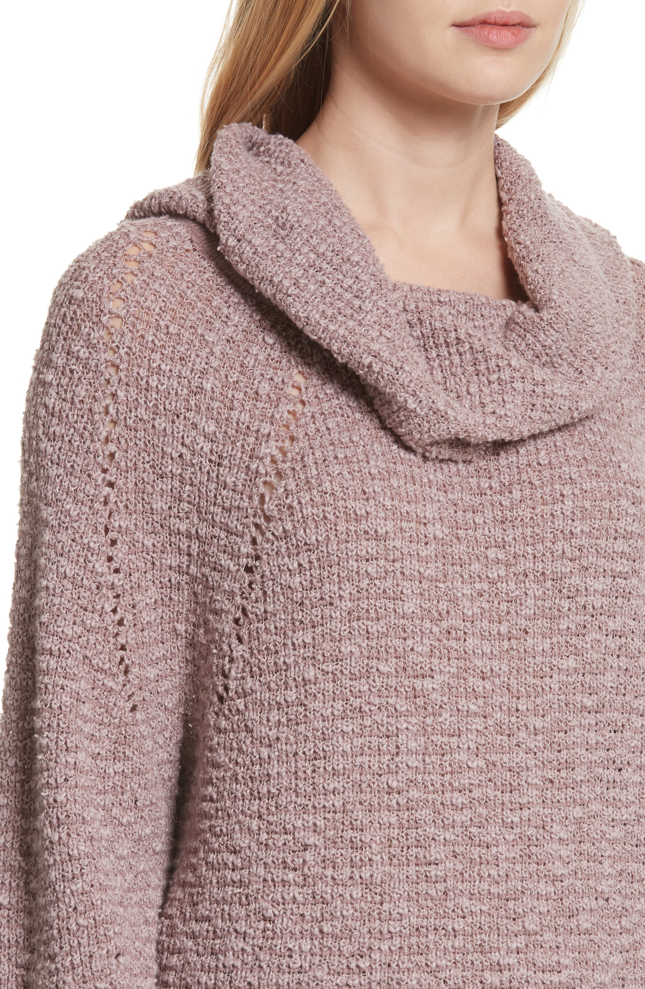 By Your Side Sweater,                             Alternate thumbnail 4, color,                             Mauve