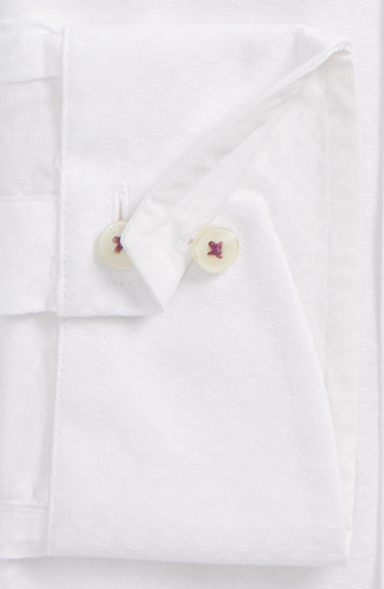 Catria Trim Fit Geometric Dress Shirt,                             Alternate thumbnail 2, color,                             White