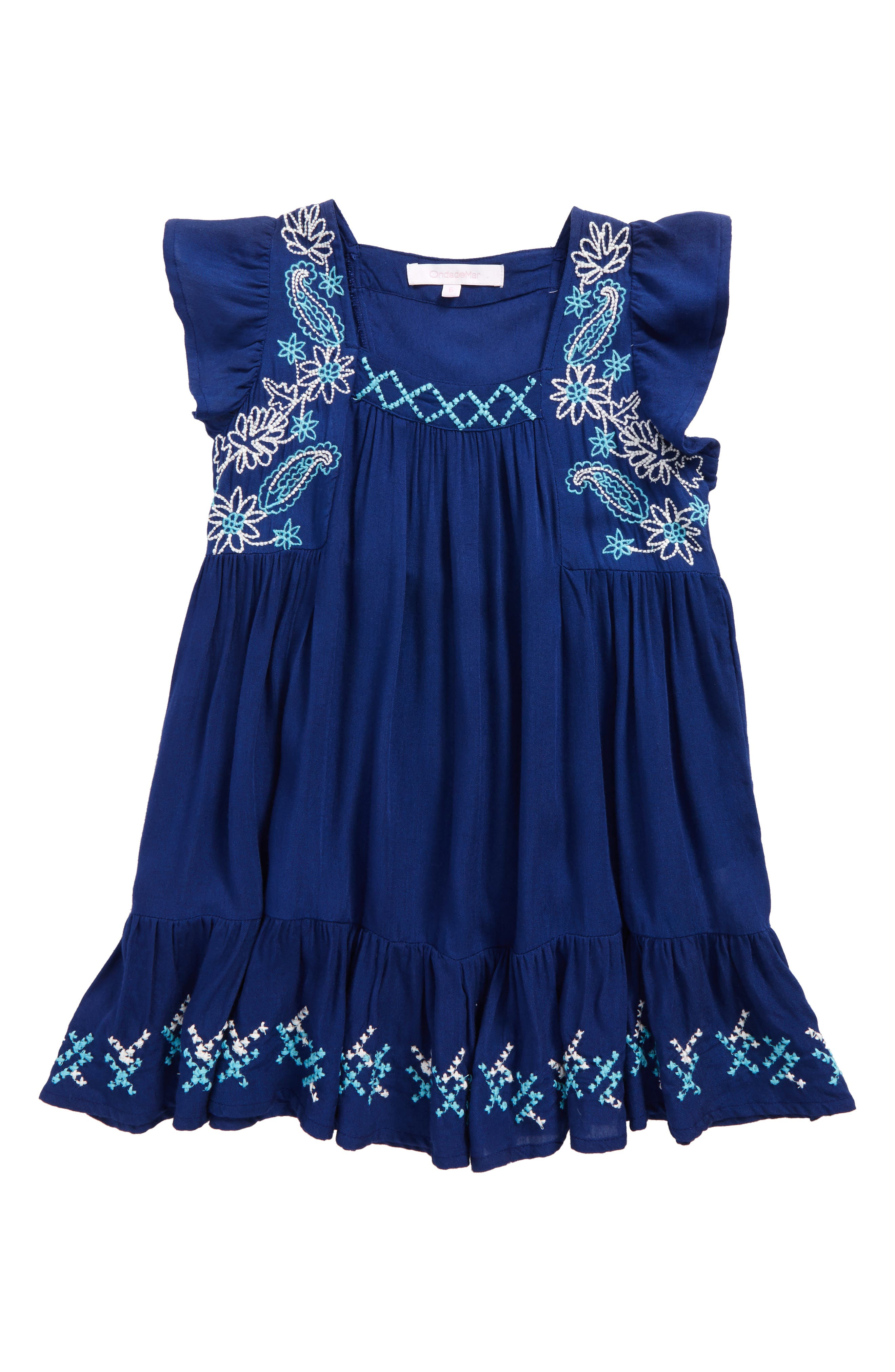 Main Image - OndadeMar Lotto Cover-Up Dress (Big Girls)