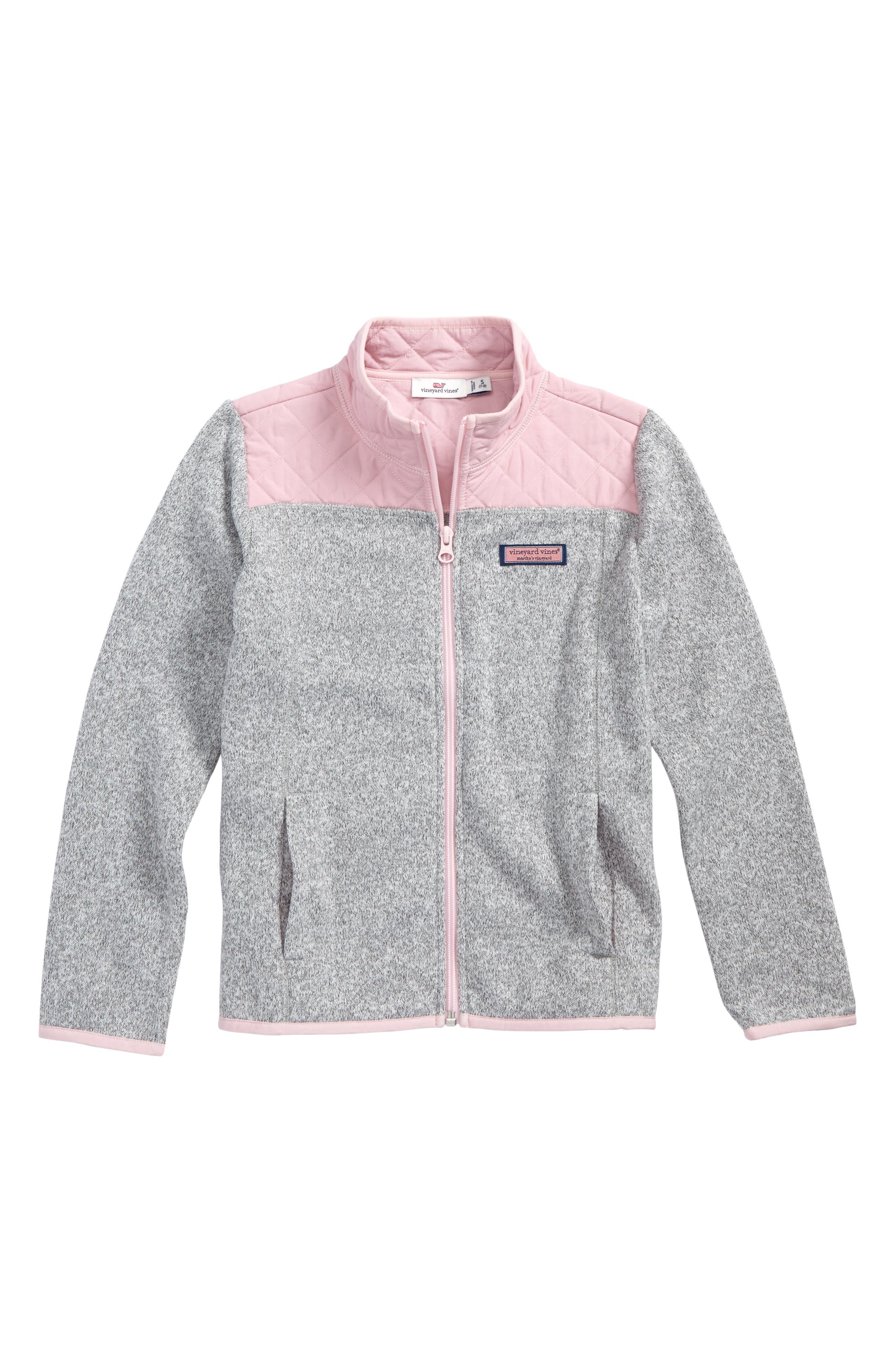 vineyard vines Fleece Full Zip Sweater (Little Girls & Big Girls)