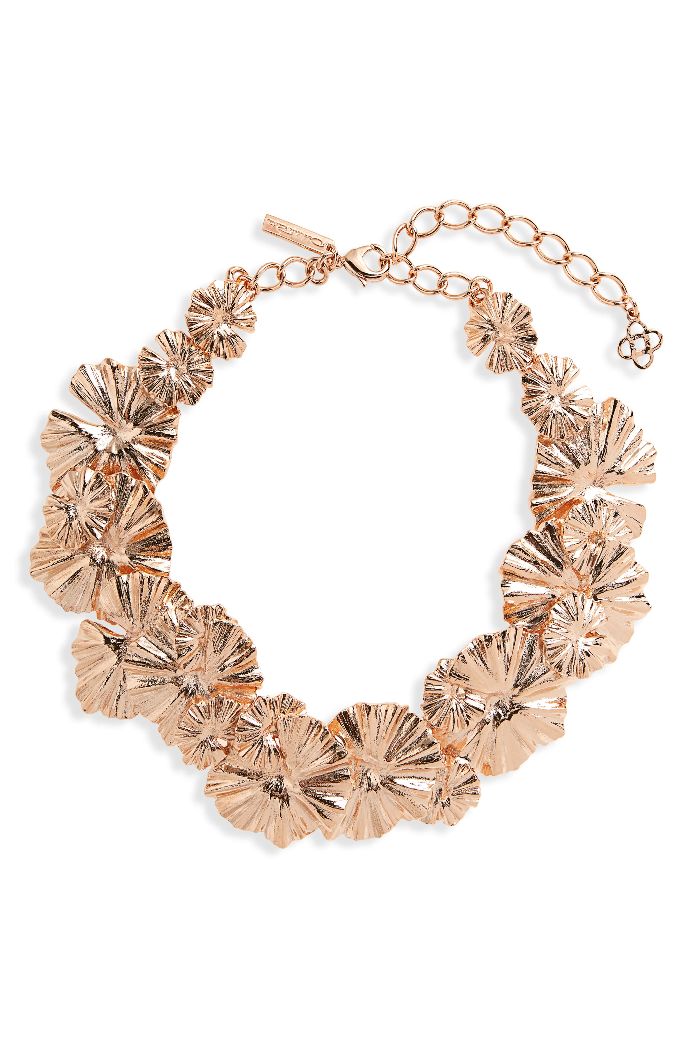 Wildflower Necklace,                         Main,                         color, Rose Gold
