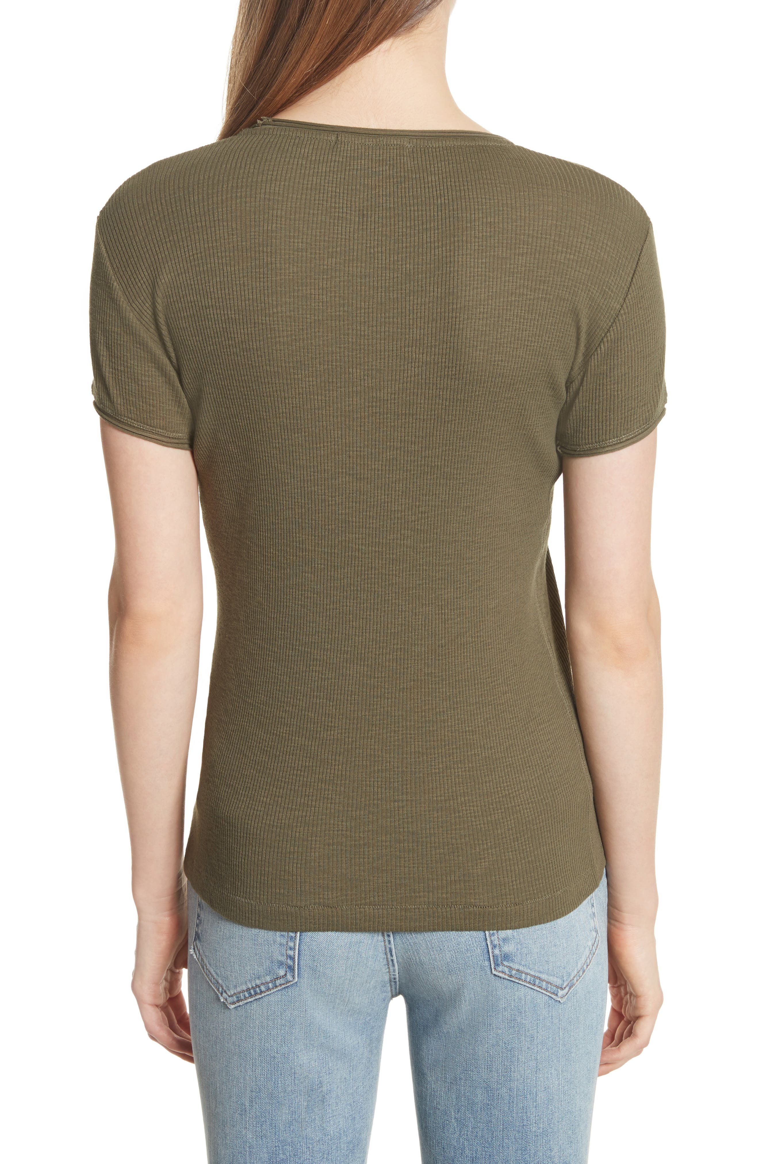 Lilies Tee,                             Alternate thumbnail 2, color,                             Dark Olive