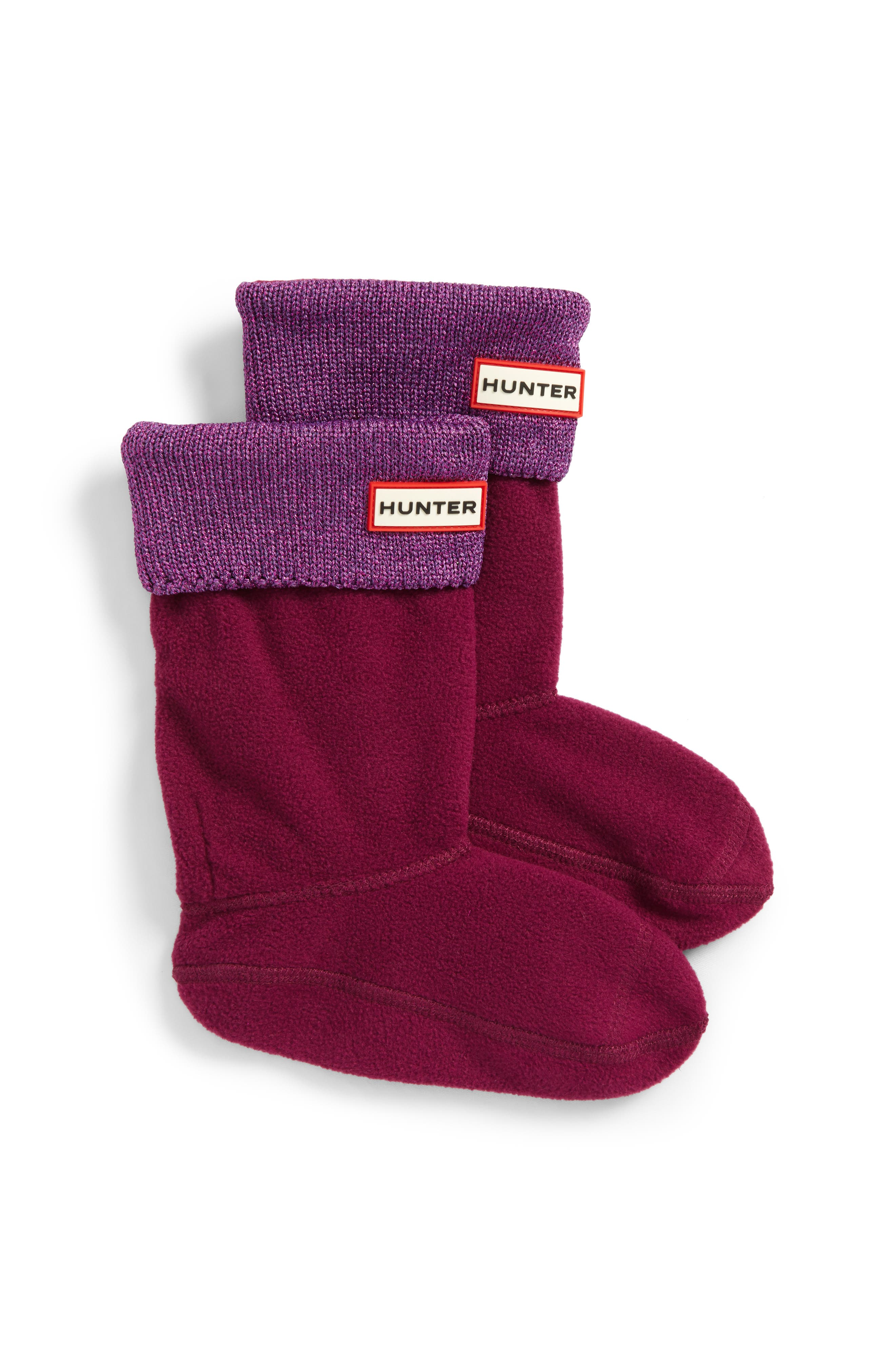 Hunter Metallic Knit Cuff Boot Sock