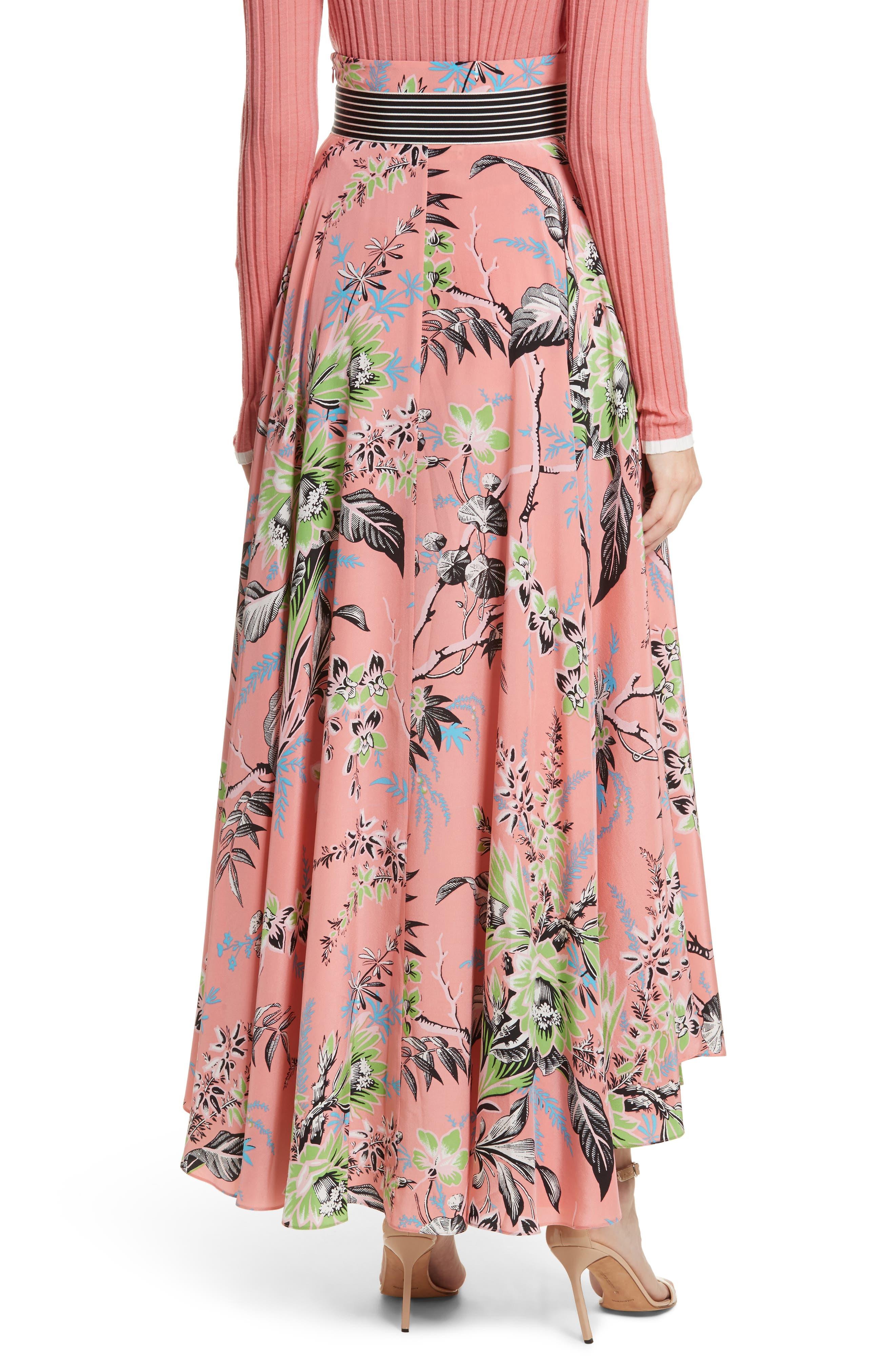 Diane von Furstenberg Draped Silk Maxi Skirt,                             Alternate thumbnail 2, color,                             Avalon Hyacinth