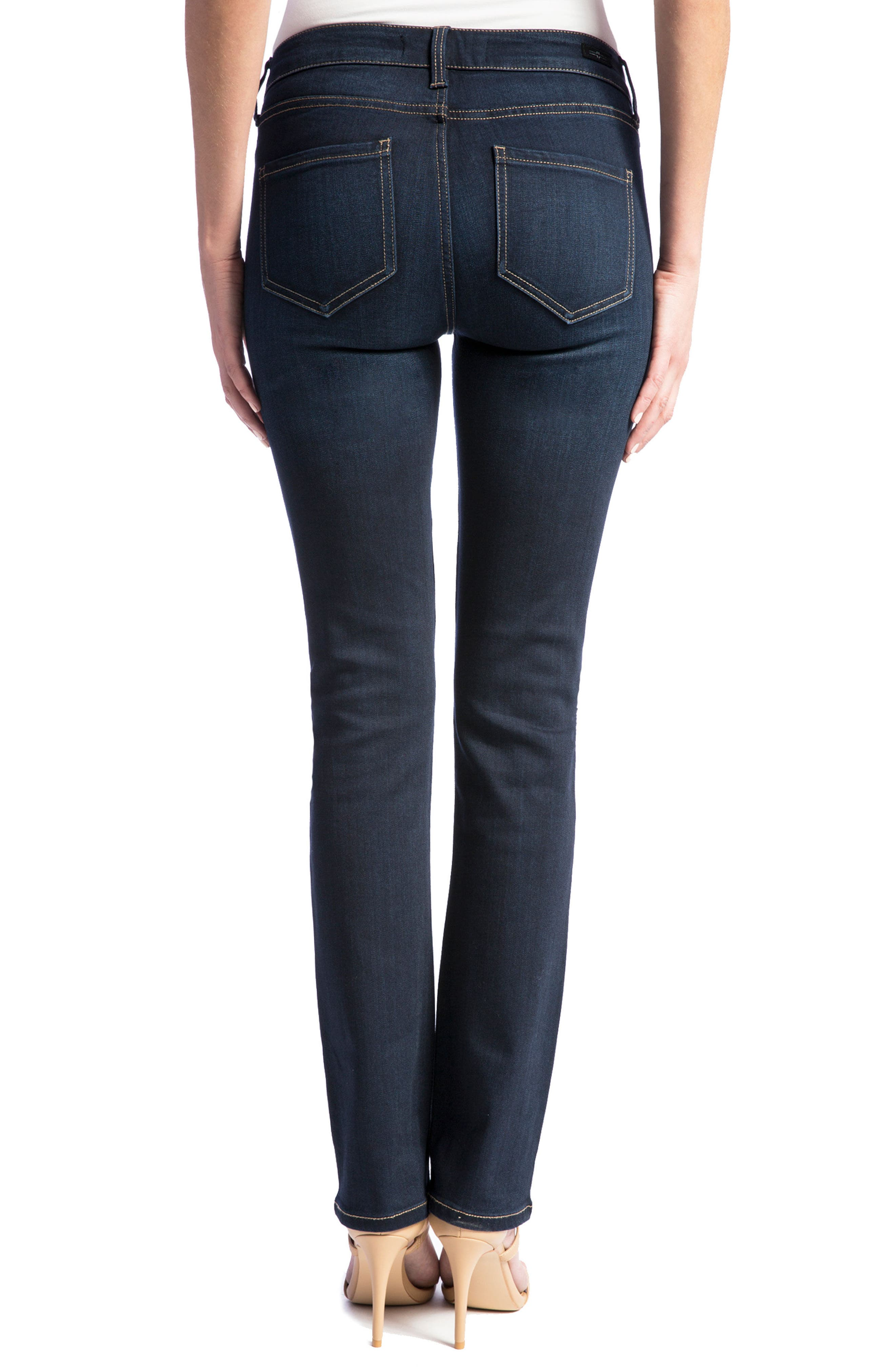 Sadie Straight Jeans,                             Alternate thumbnail 2, color,                             Stone Wash